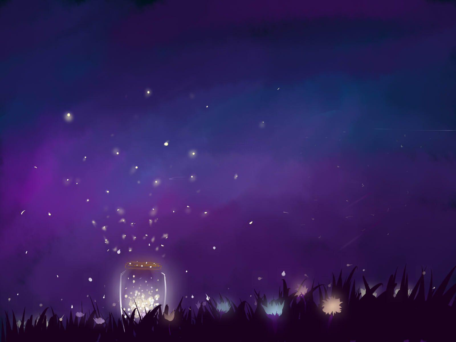 Art Fireflies Wallpapers Wallpaper Cave