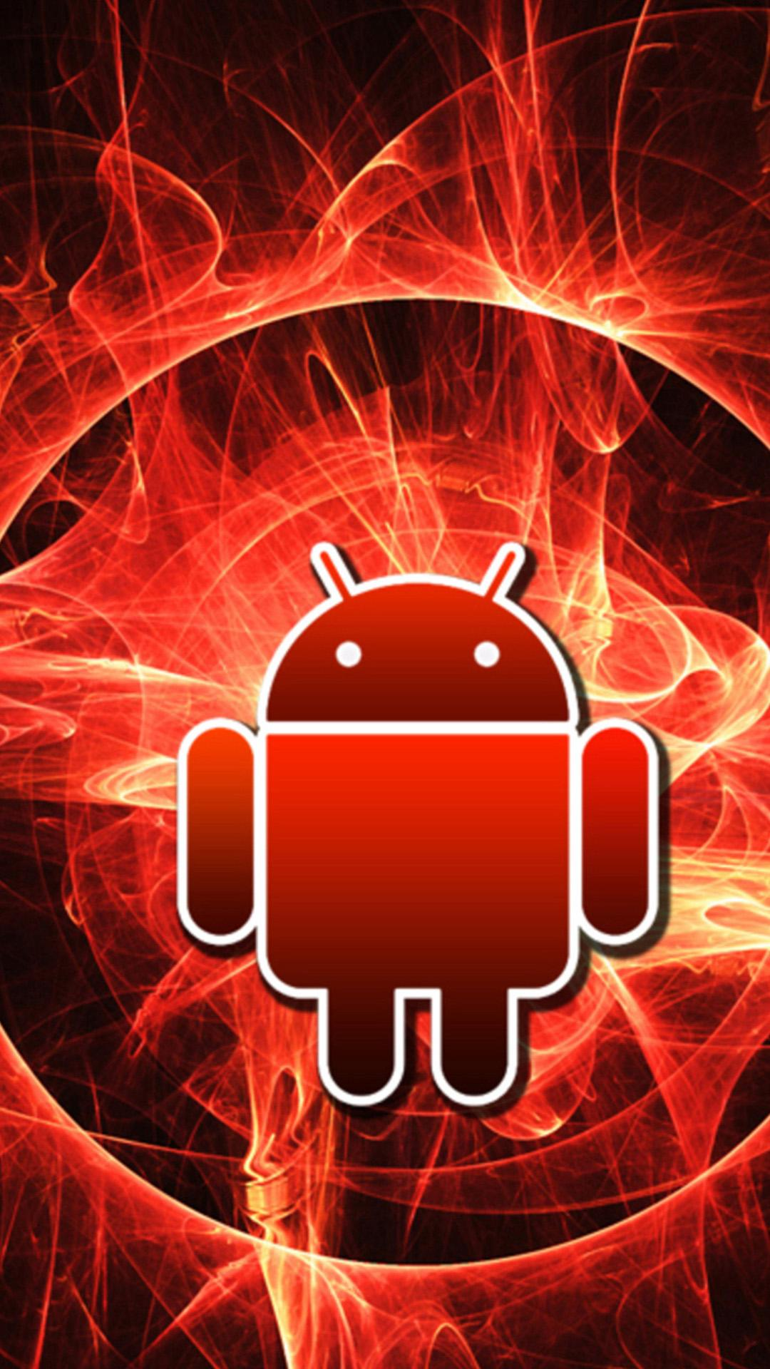Red Android Logo Wallpapers Wallpaper Cave