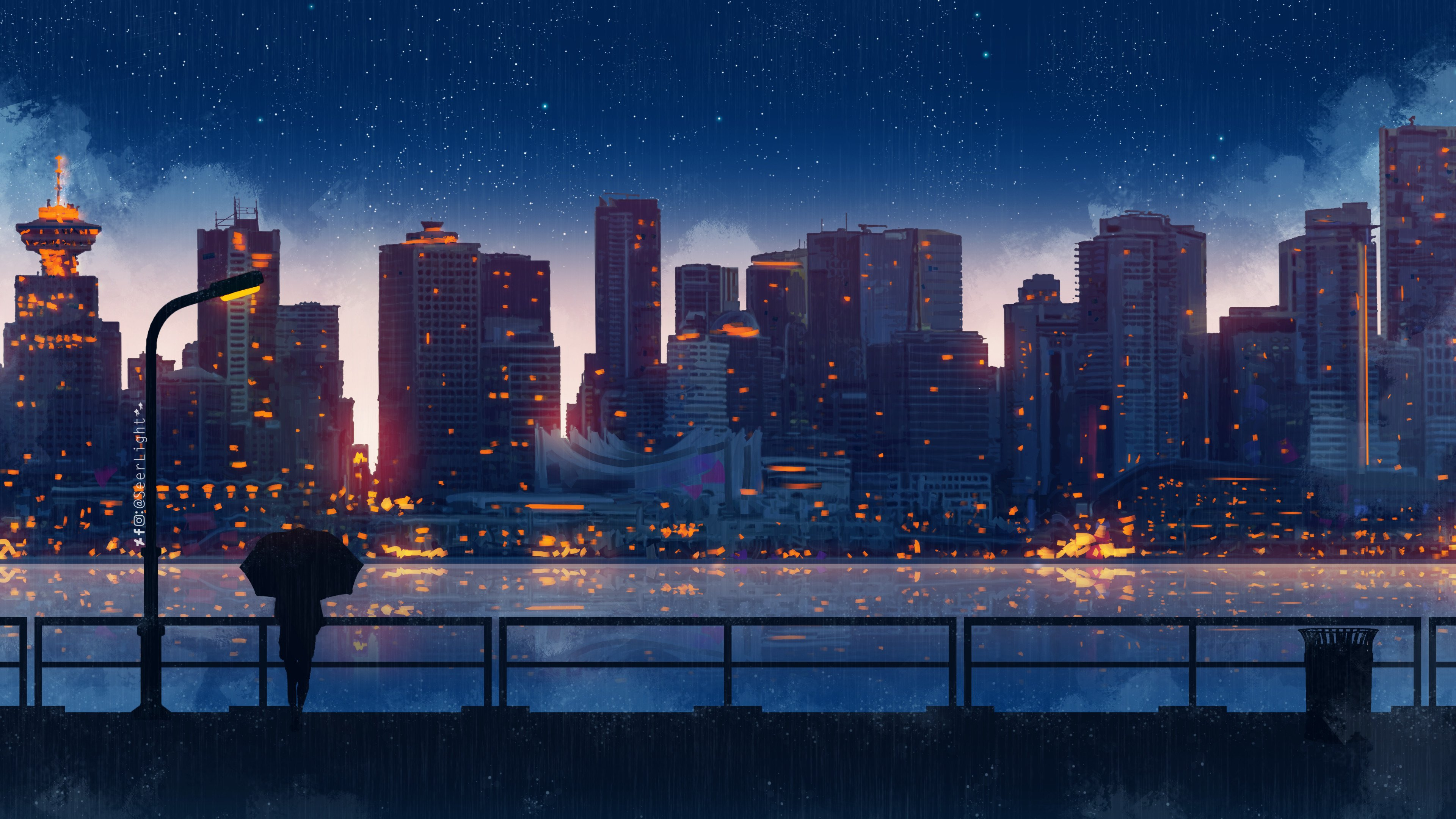 4k Anime City Night Wallpapers - Wallpaper Cave