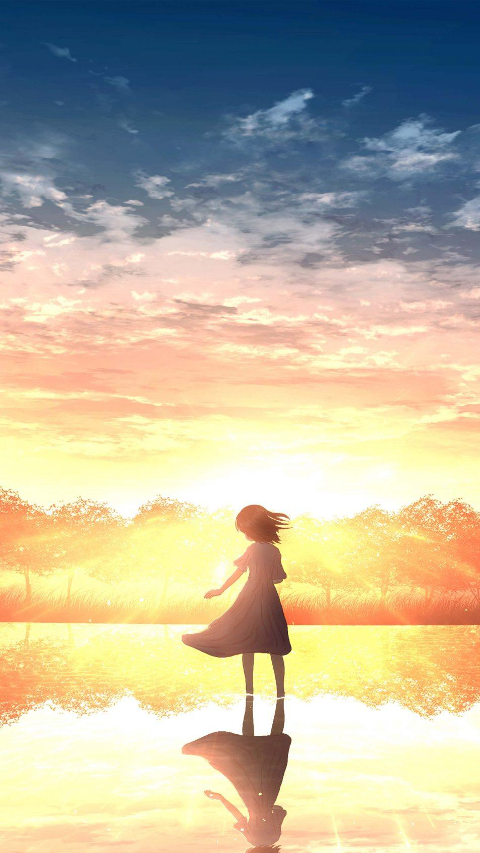 Loneliness Sunset 4k Anime Wallpapers - Wallpaper Cave