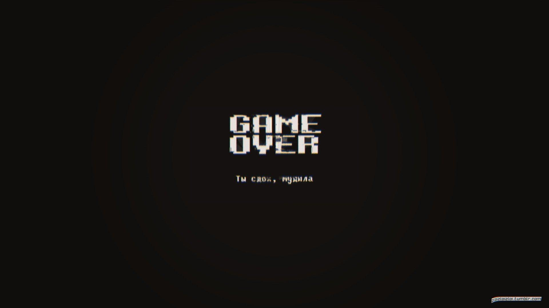 glitch art, Minimalism, Dark, GAME OVER, Abstract HD Wallpapers