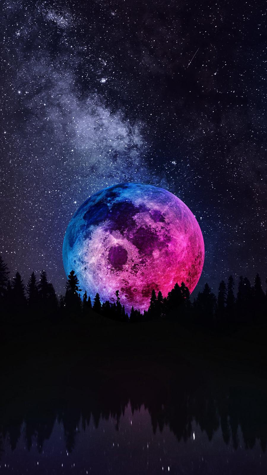 Moon Sky Mobile Wallpapers Wallpaper Cave