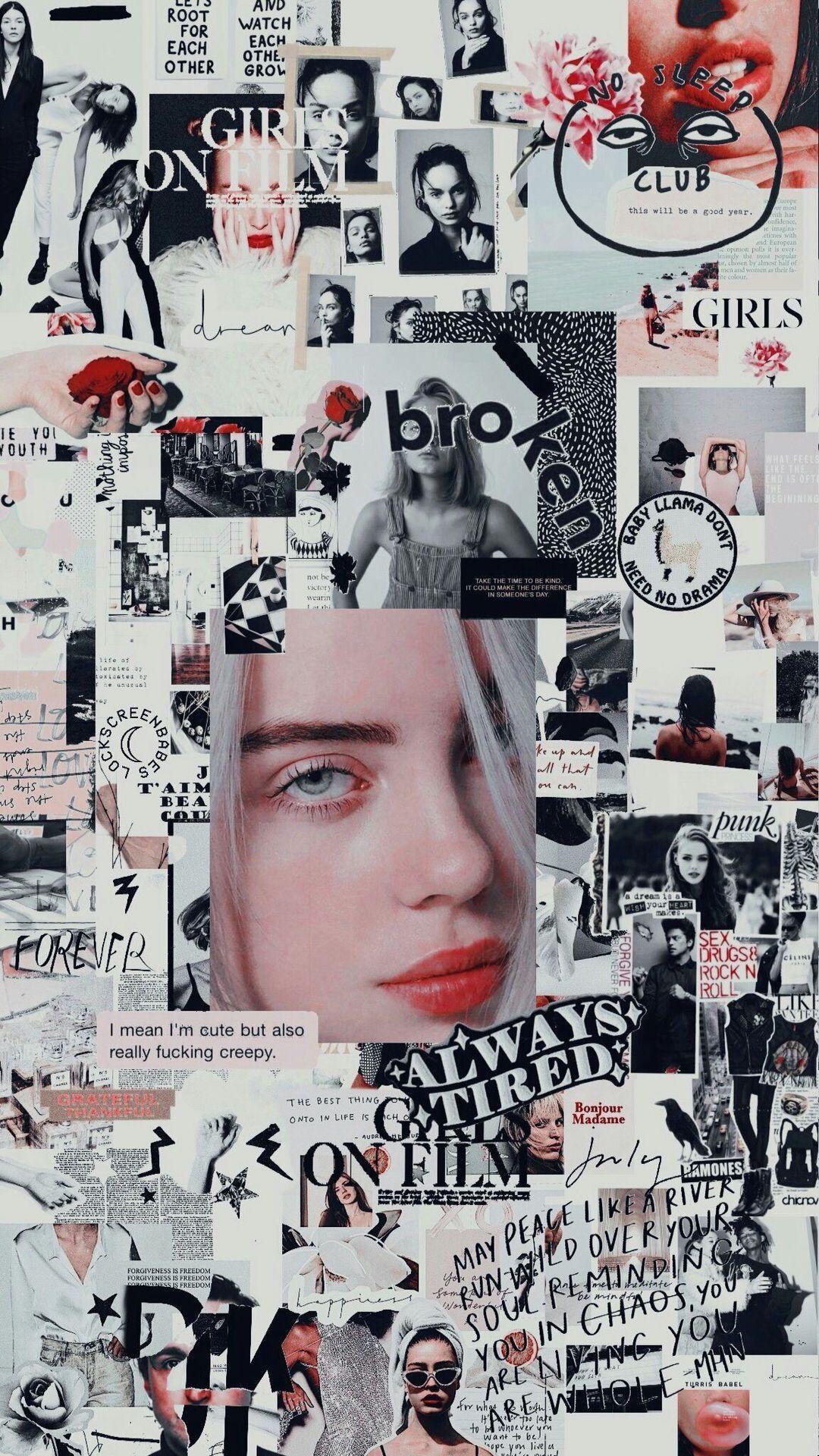 billie eilish pink aesthetic wallpapers