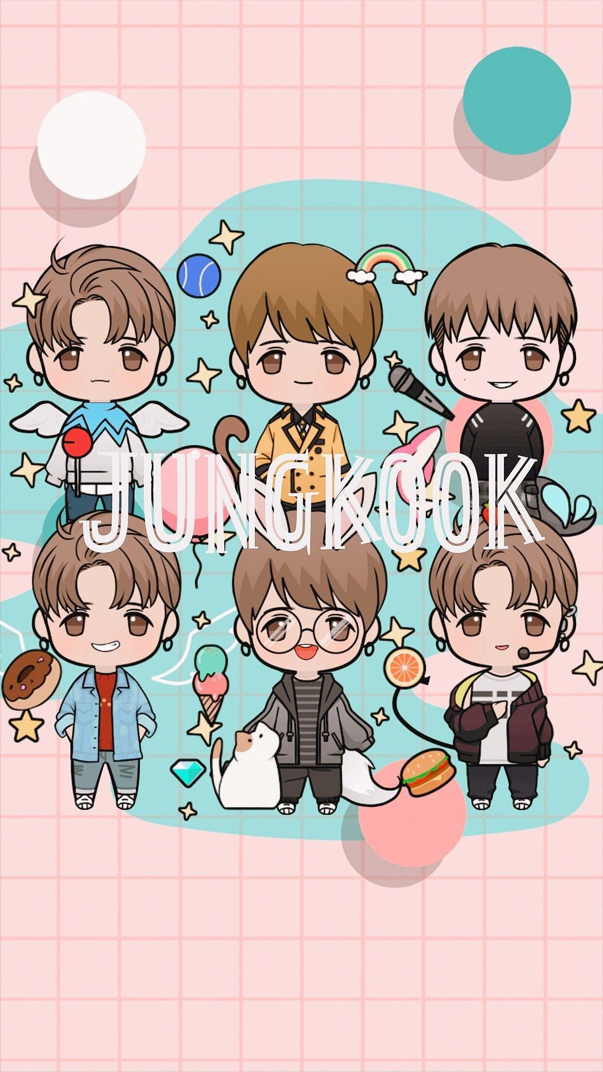 Jungkook Cartoon Wallpapers Wallpaper Cave