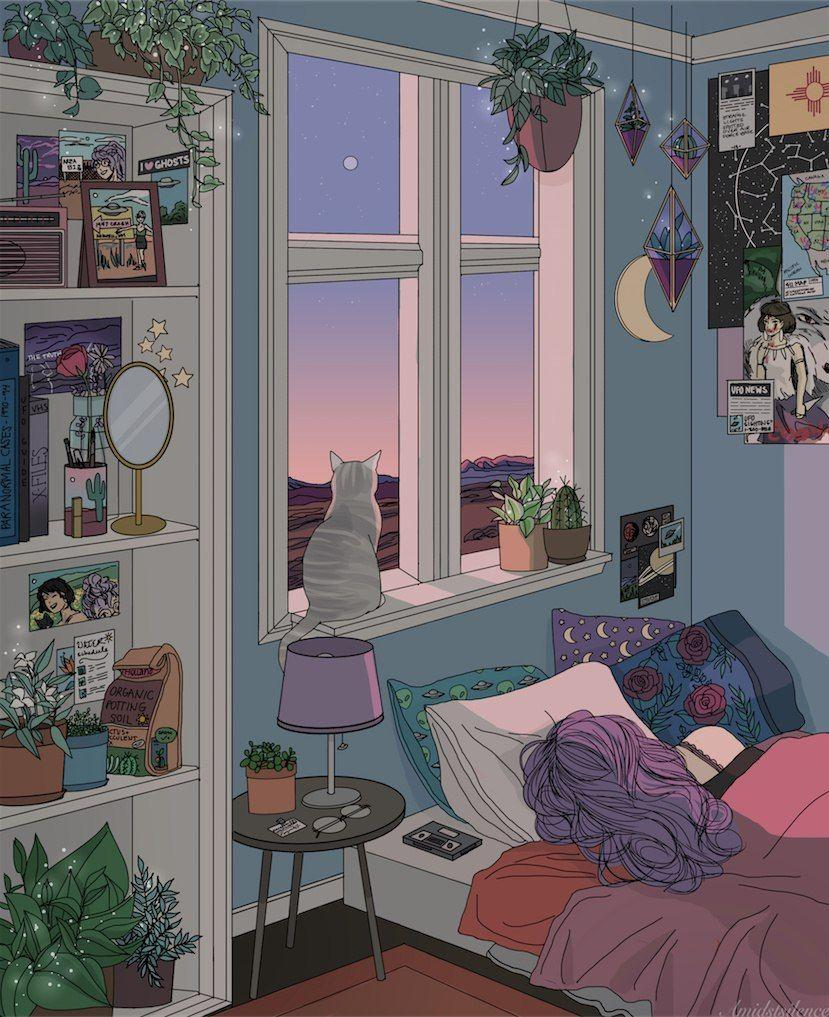 Anime Rooms Drawing Wallpapers - Wallpaper Cave