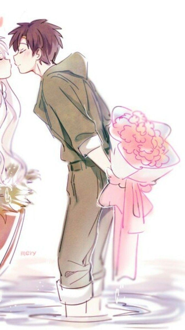 Cute Anime Love Couple Wallpapers - Wallpaper Cave