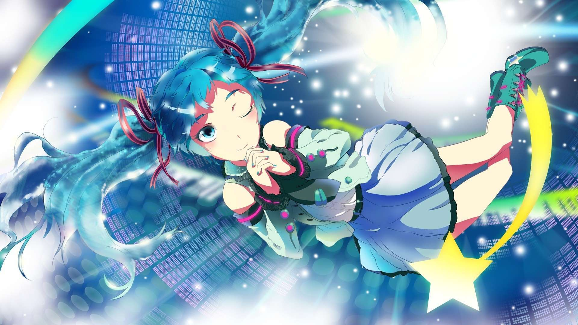 Blue Anime 1080p Wallpapers Wallpaper Cave