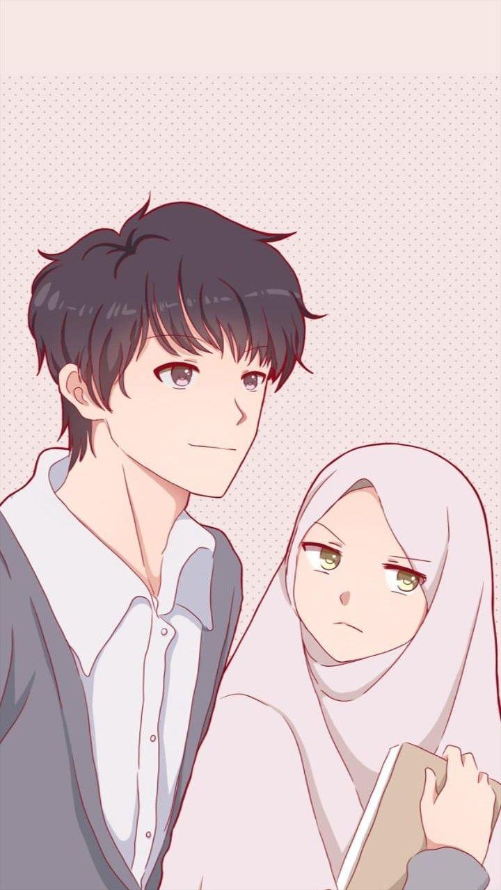 Wallpaper Cave Lovers Islamic Couple Cartoon Hd Wallpapershit