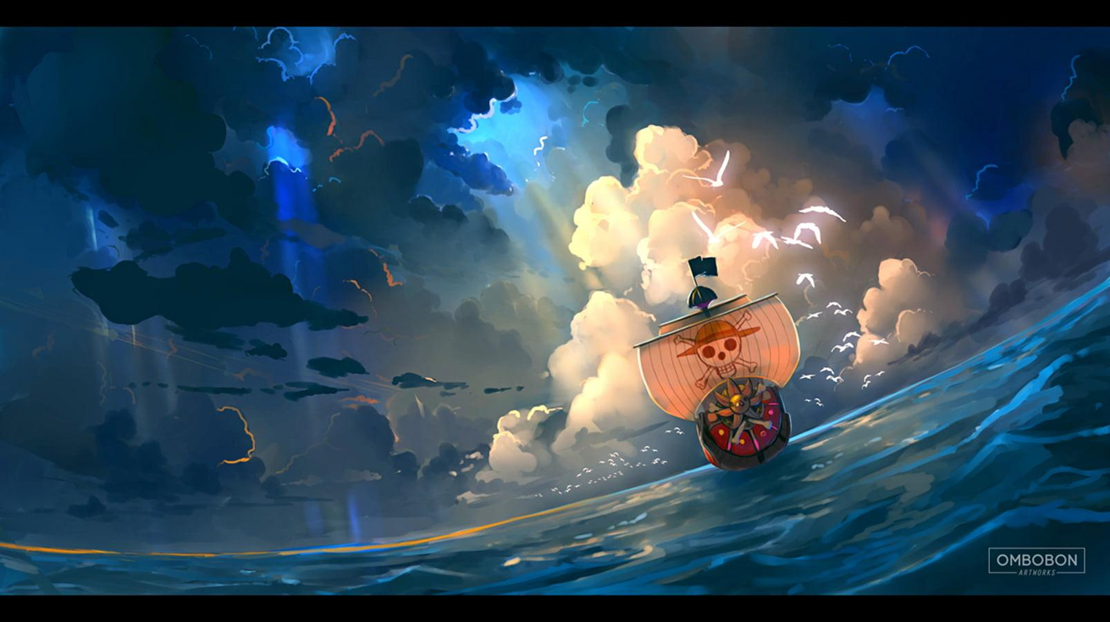 One Piece Going Merry 3D wallpaper, One Piece, anime HD wallpapers