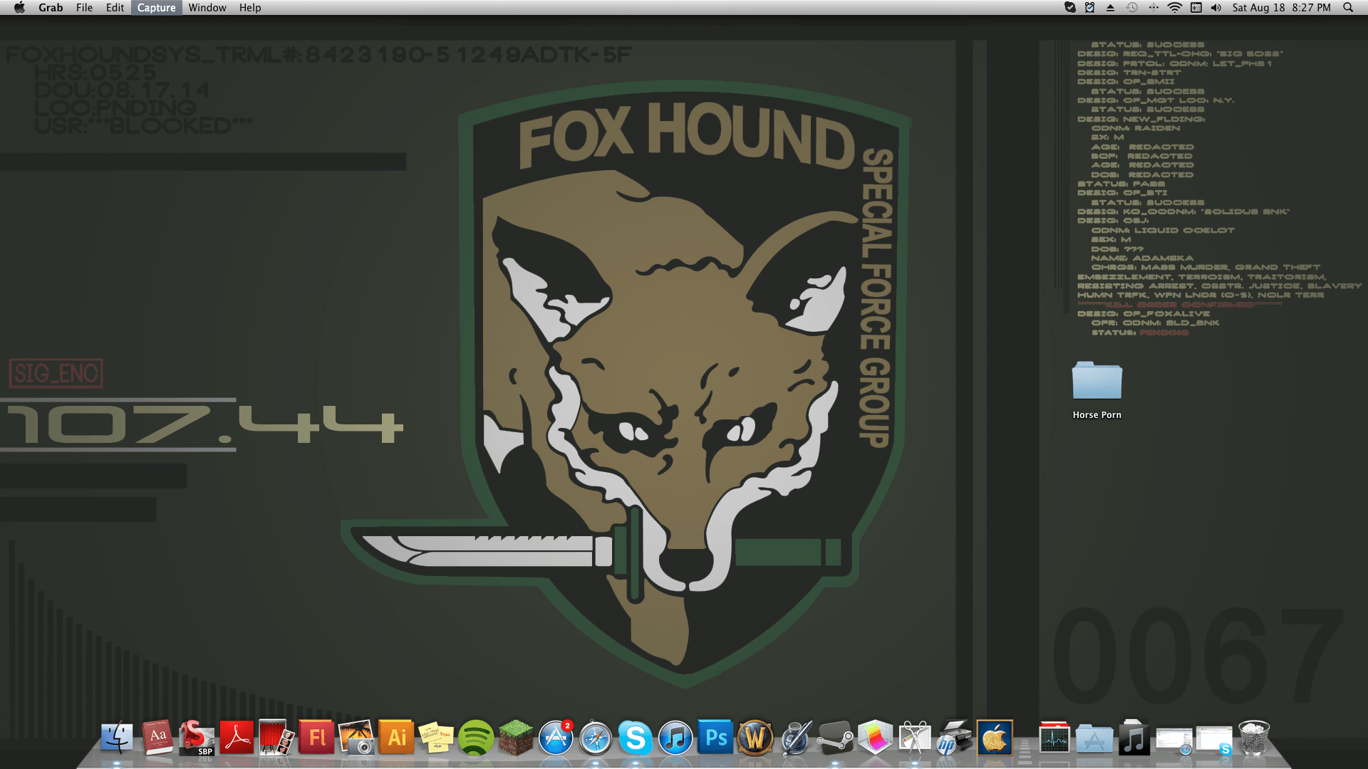 My new FOXHOUND wallpapers I made. I'm pretty happy with it. : gaming