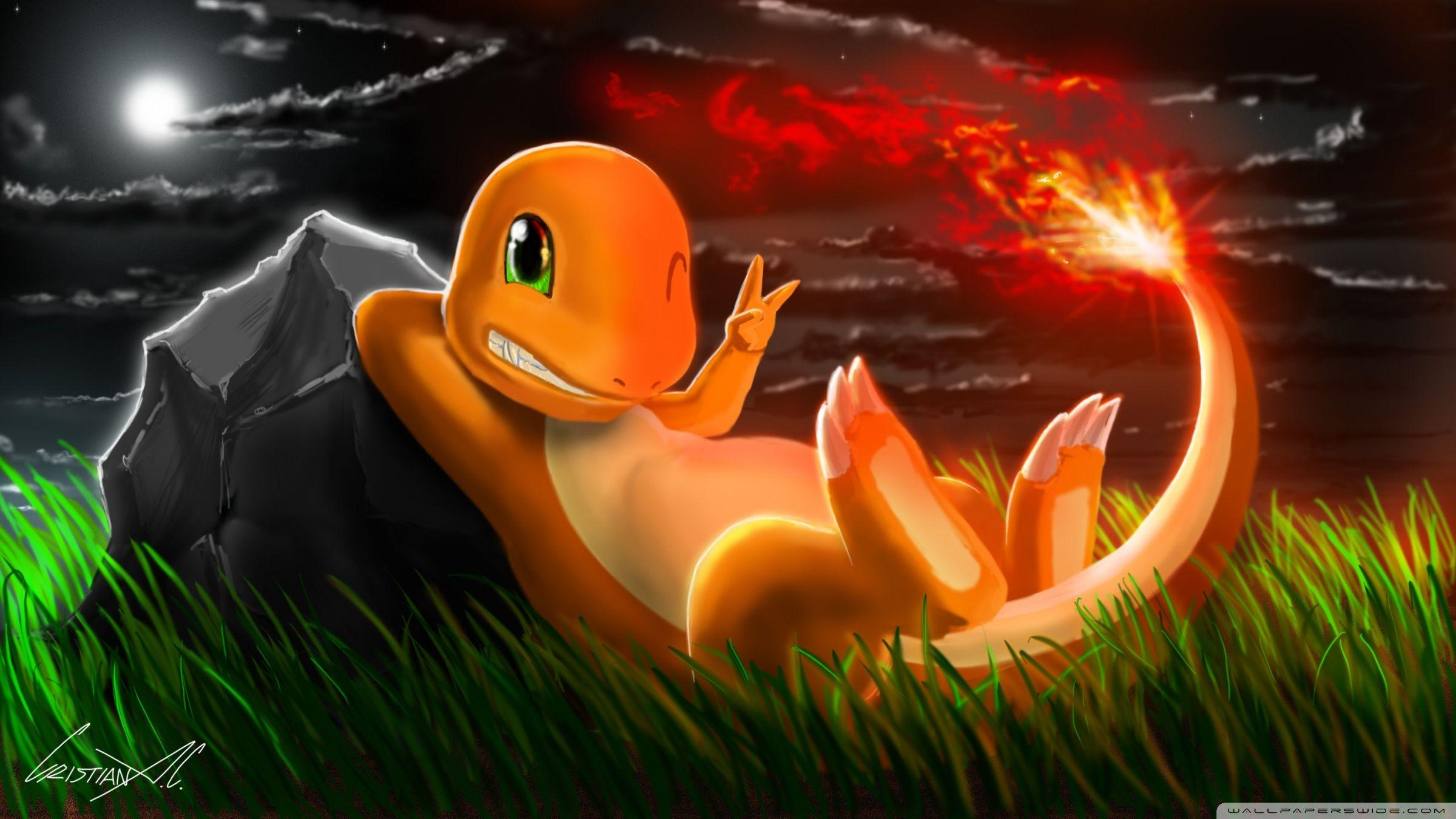 Charmander Pokemon 4K HD Desktop Wallpaper