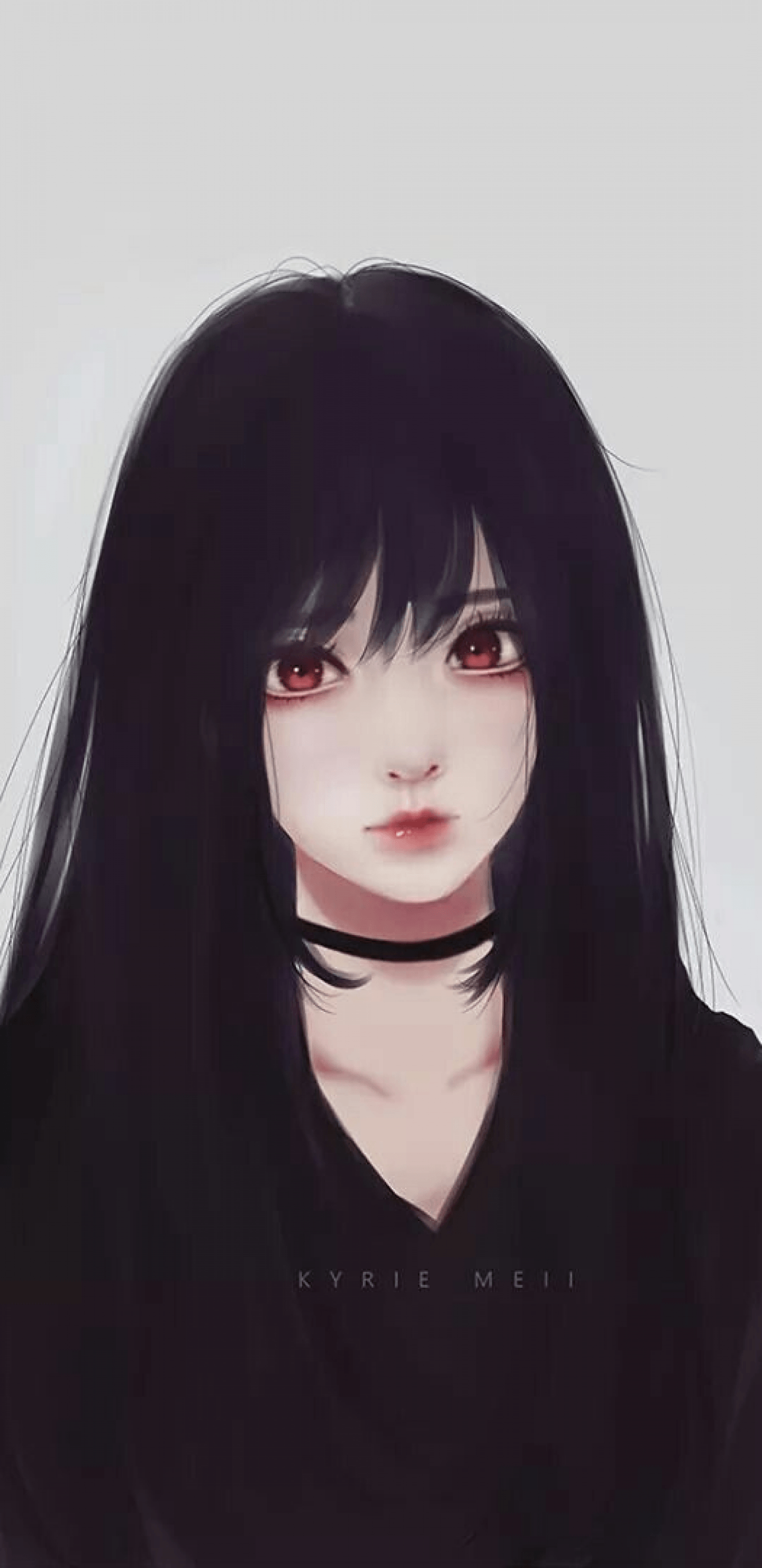 Anime Black Hair Girl Wallpapers Wallpaper Cave