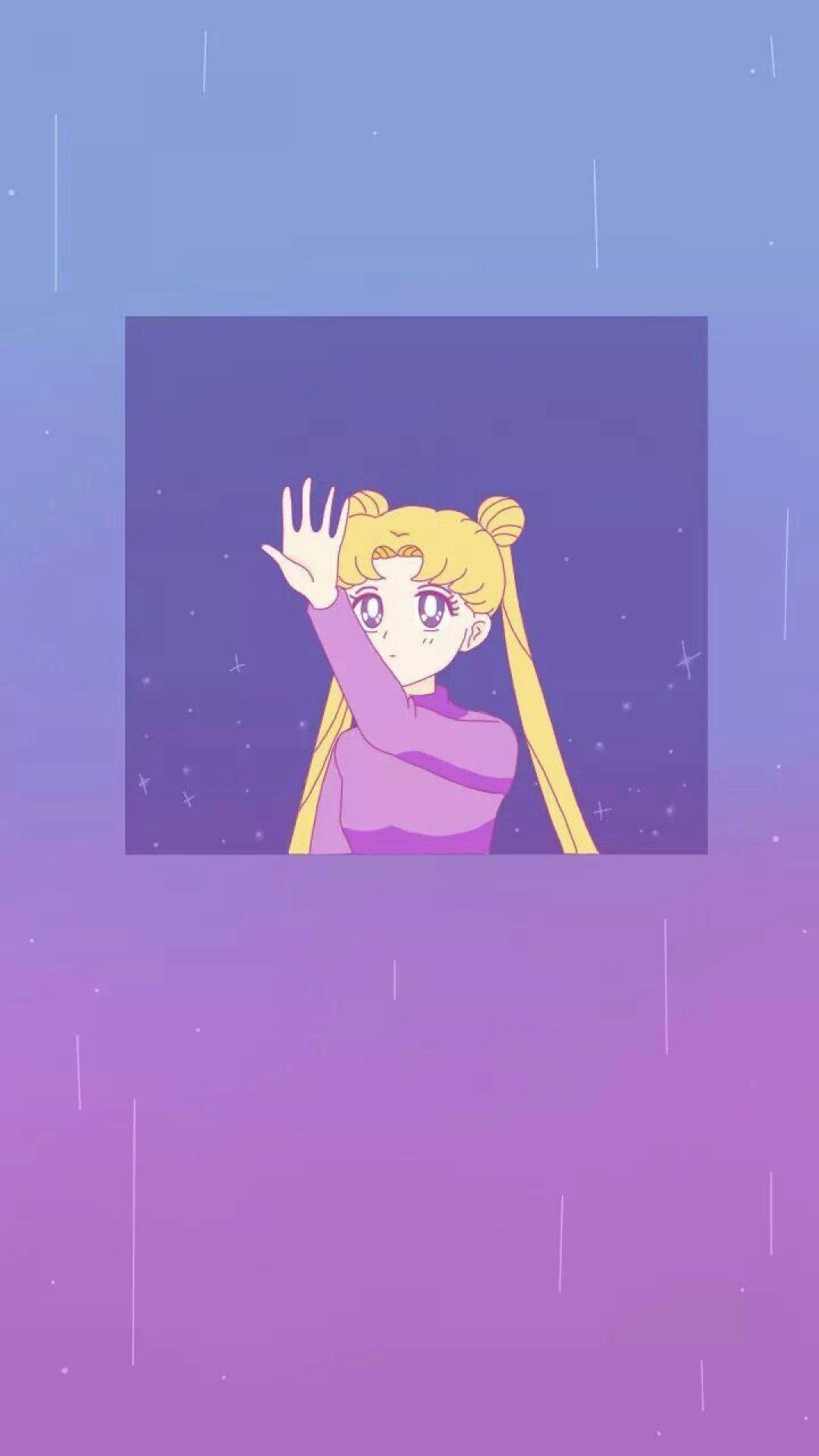 Purple Aesthetic Wallpaper Anime : Aesthetic Purple Anime ...