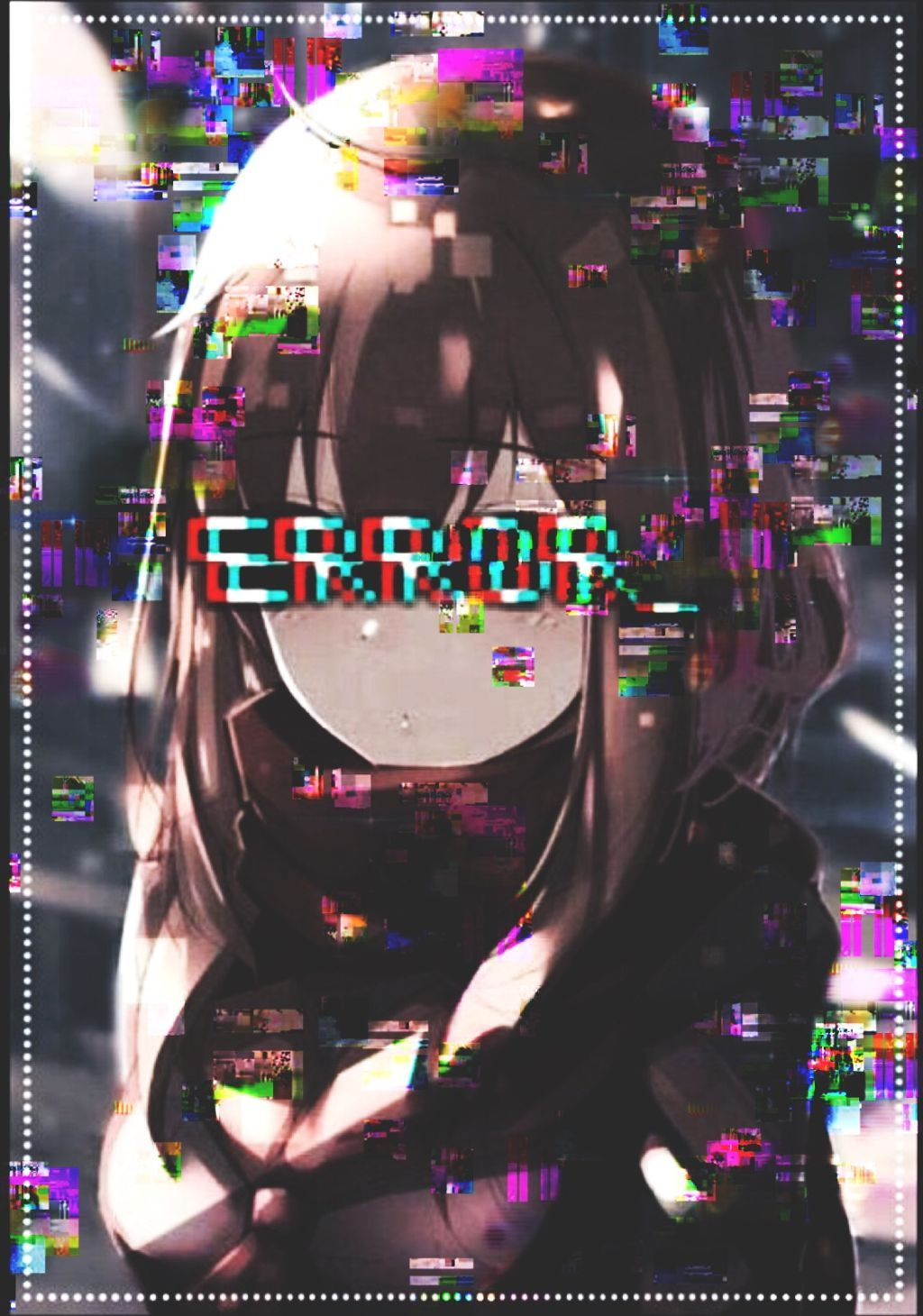 Anime Error Glitch Wallpapers Wallpaper Cave