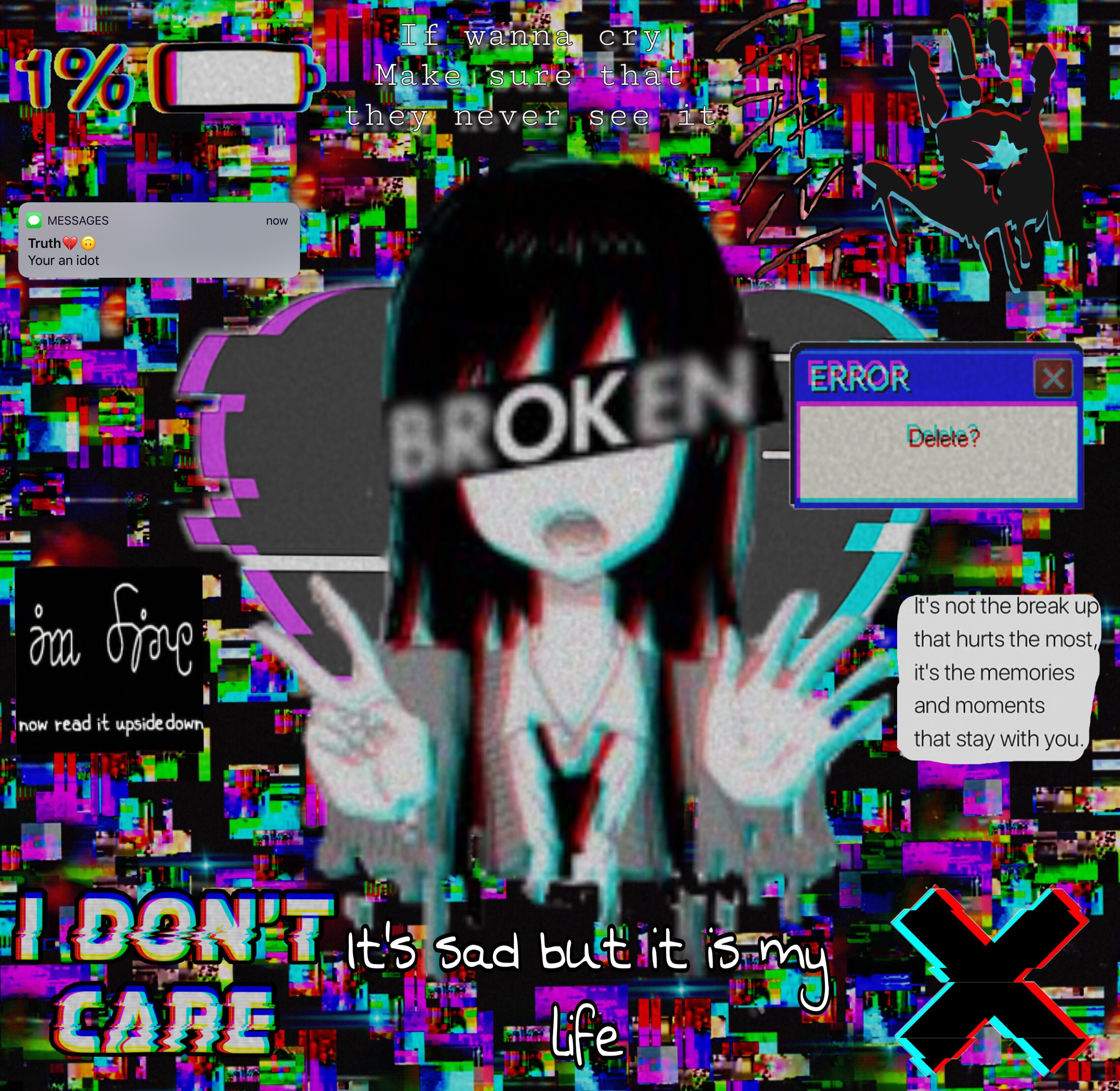 Anime Error Glitch Wallpapers - Wallpaper Cave