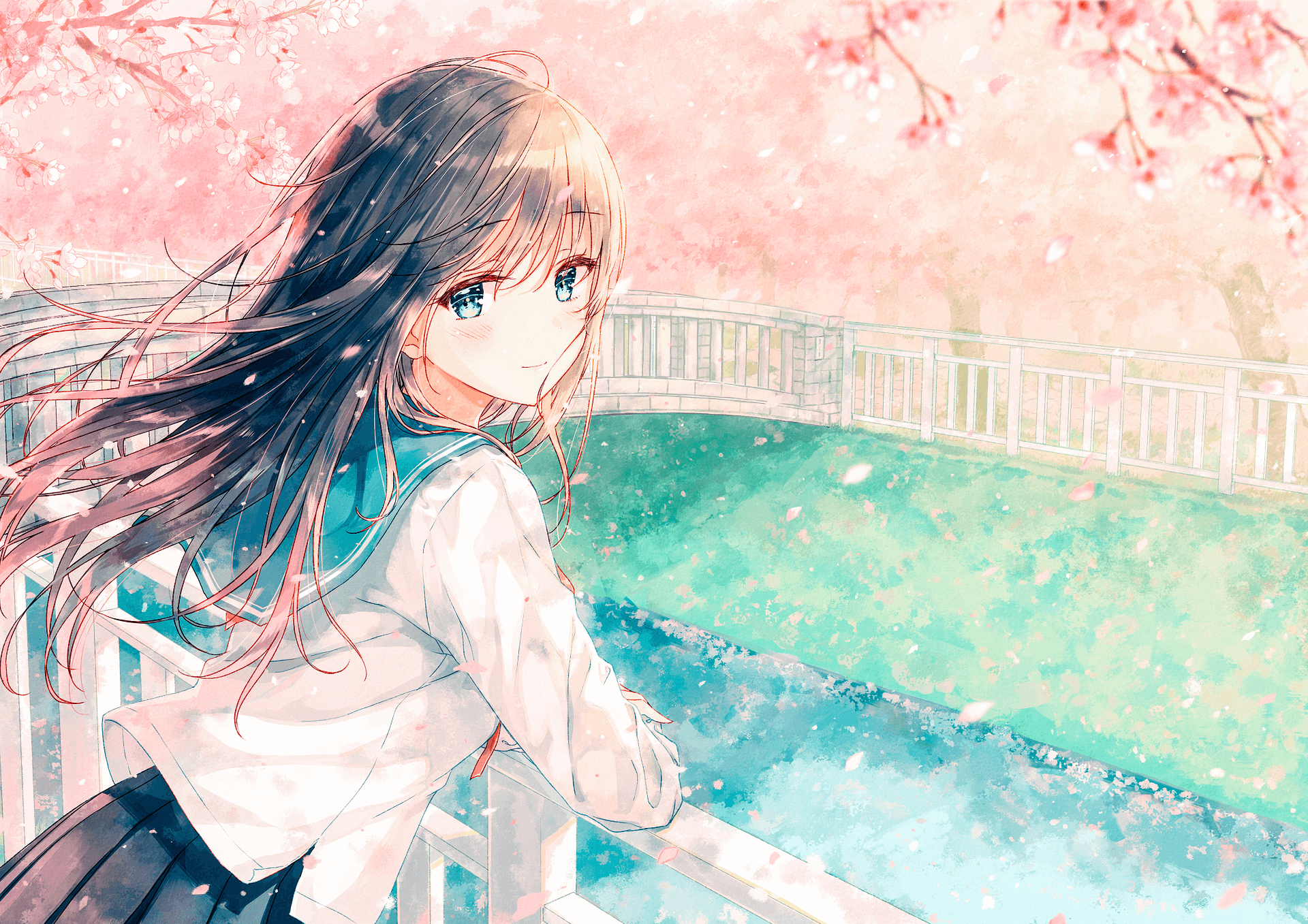 Anime Girl With Brown Hair Wallpapers - Wallpaper Cave