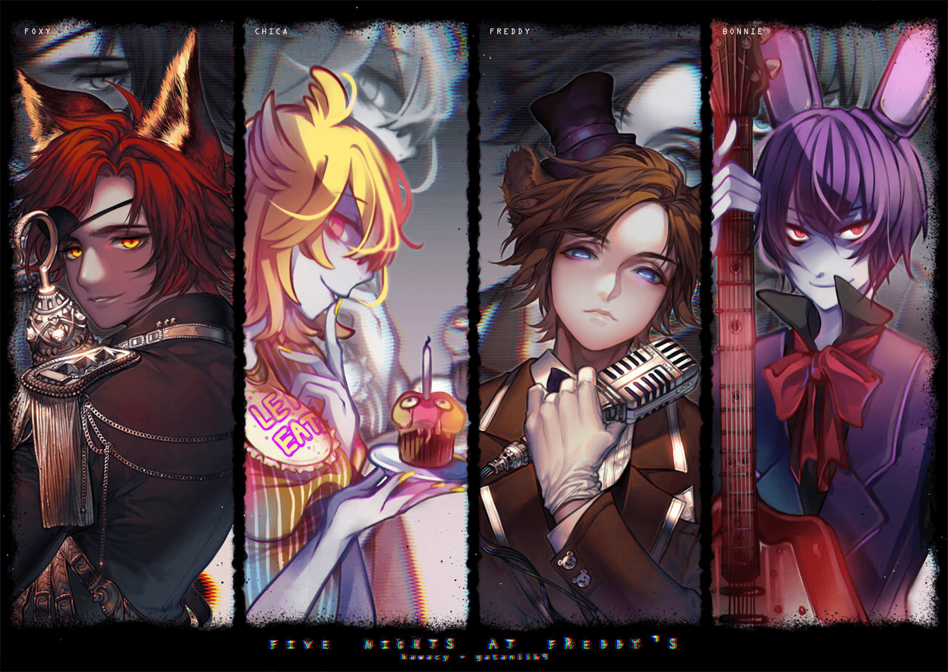 Five Nights At Freddy S Anime Wallpapers Wallpaper Cave