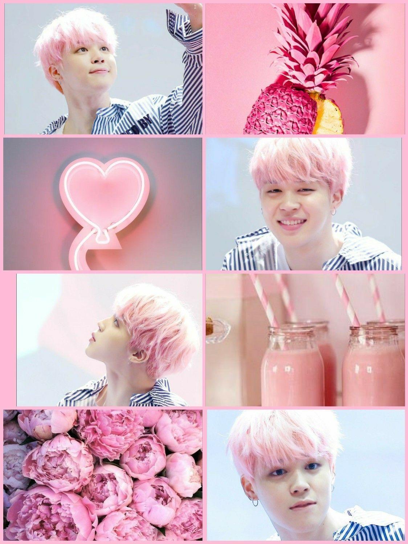jimin aesthetic pink wallpapers