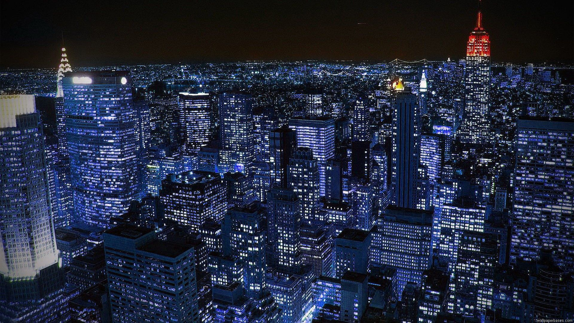 New York Night Computer Wallpapers Wallpaper Cave