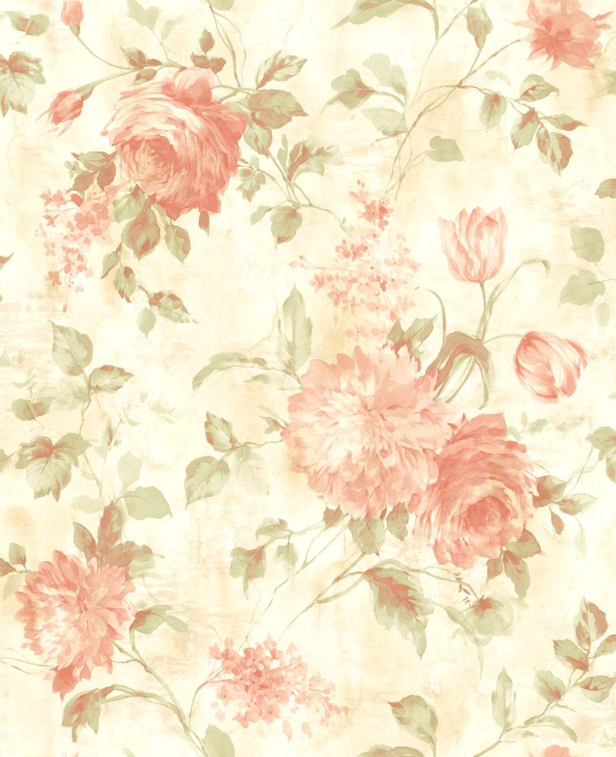 Vintage Floral Peach Wallpapers - Wallpaper Cave