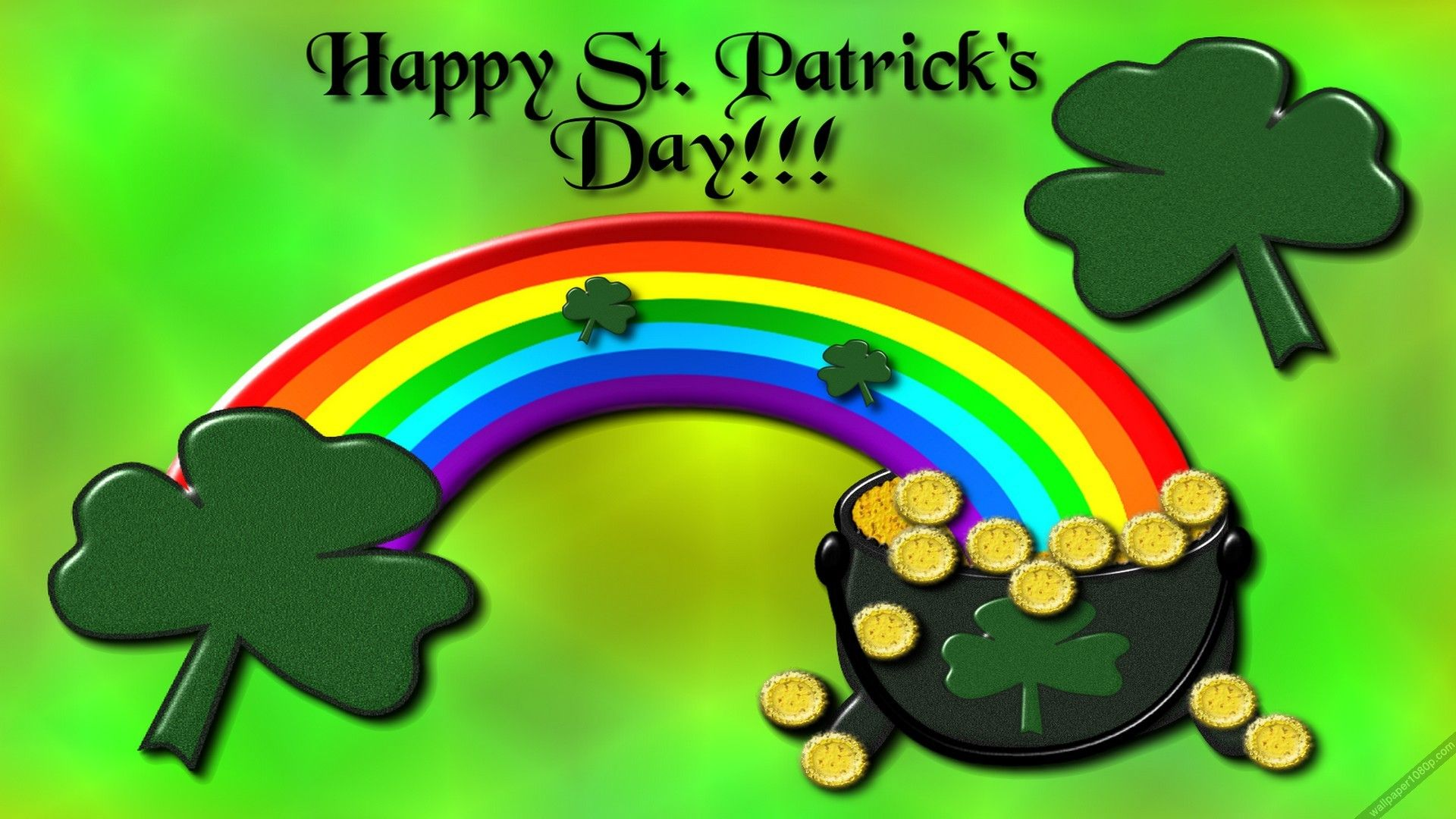 Rainbow St Patrick S Day Wallpapers Wallpaper Cave