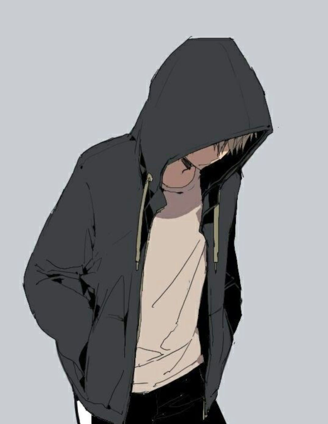 Hooded Sad Anime Boy Wallpapers Wallpaper Cave
