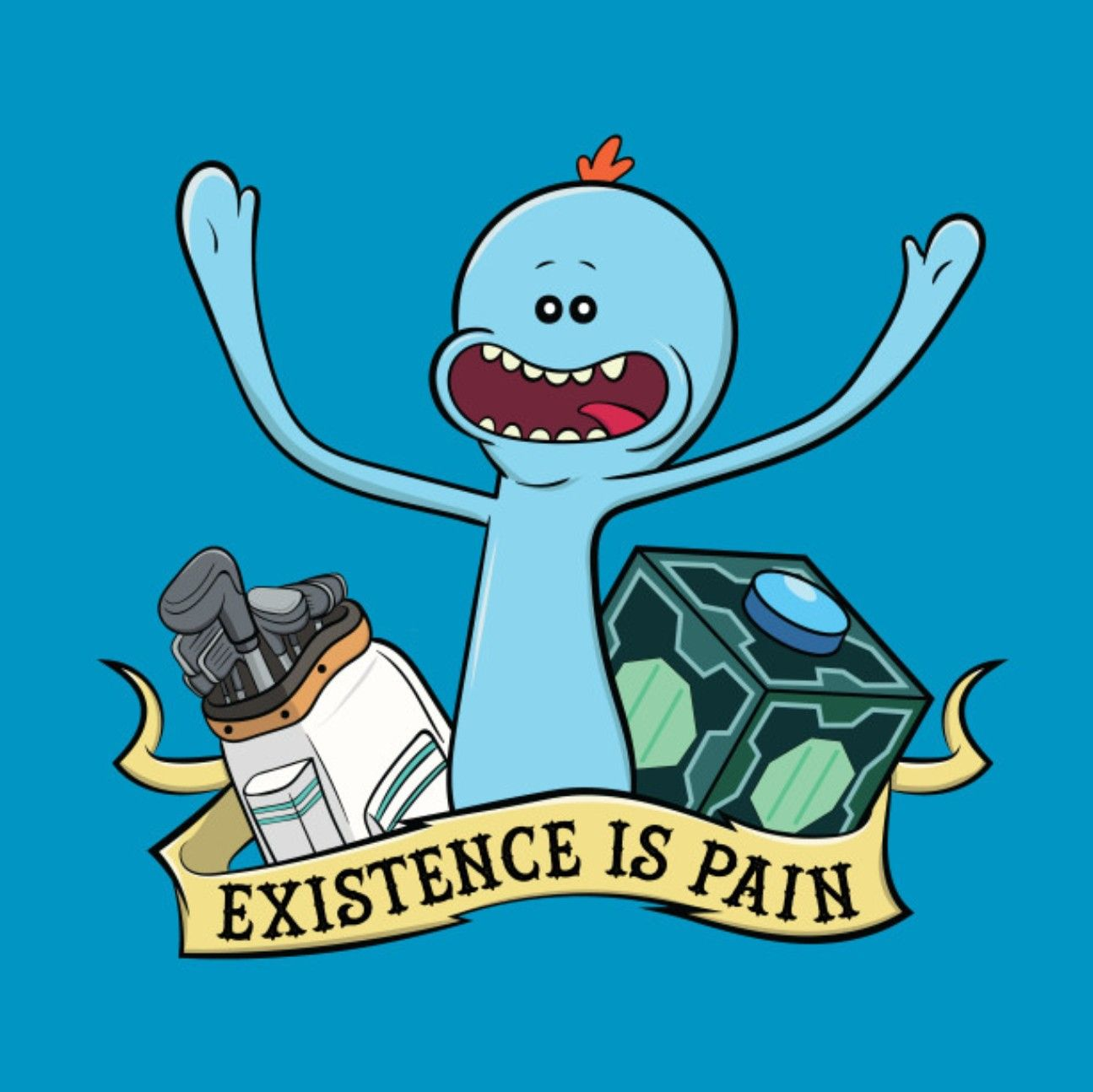 Mr Meeseeks Aesthetic Desktop Wallpapers Wallpaper Cave