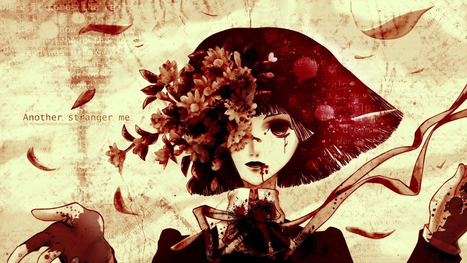 Bloody Anime Girl Desktop Wallpapers Wallpaper Cave