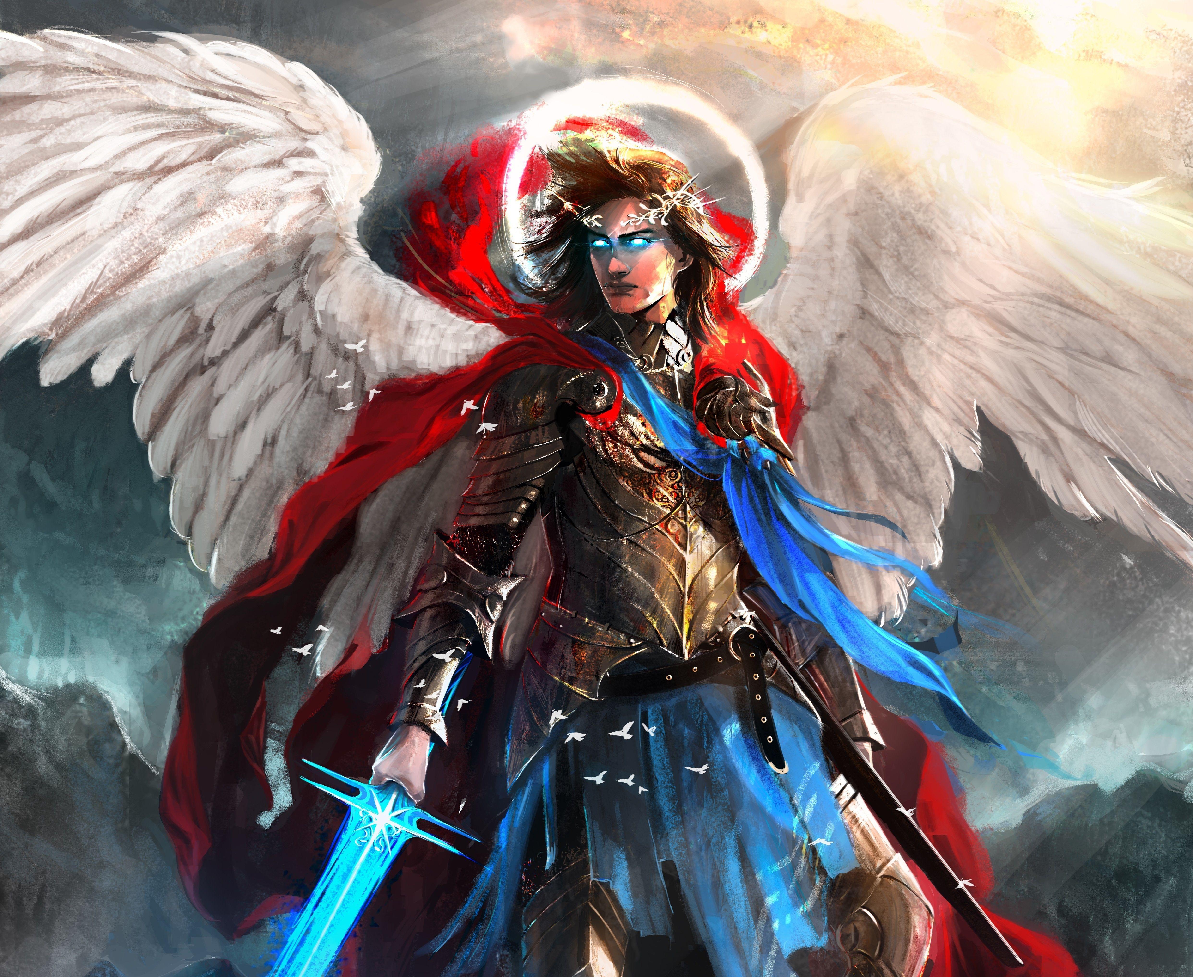 Angel Warrior Wings Fantasy 4k Wallpapers Wallpaper Cave