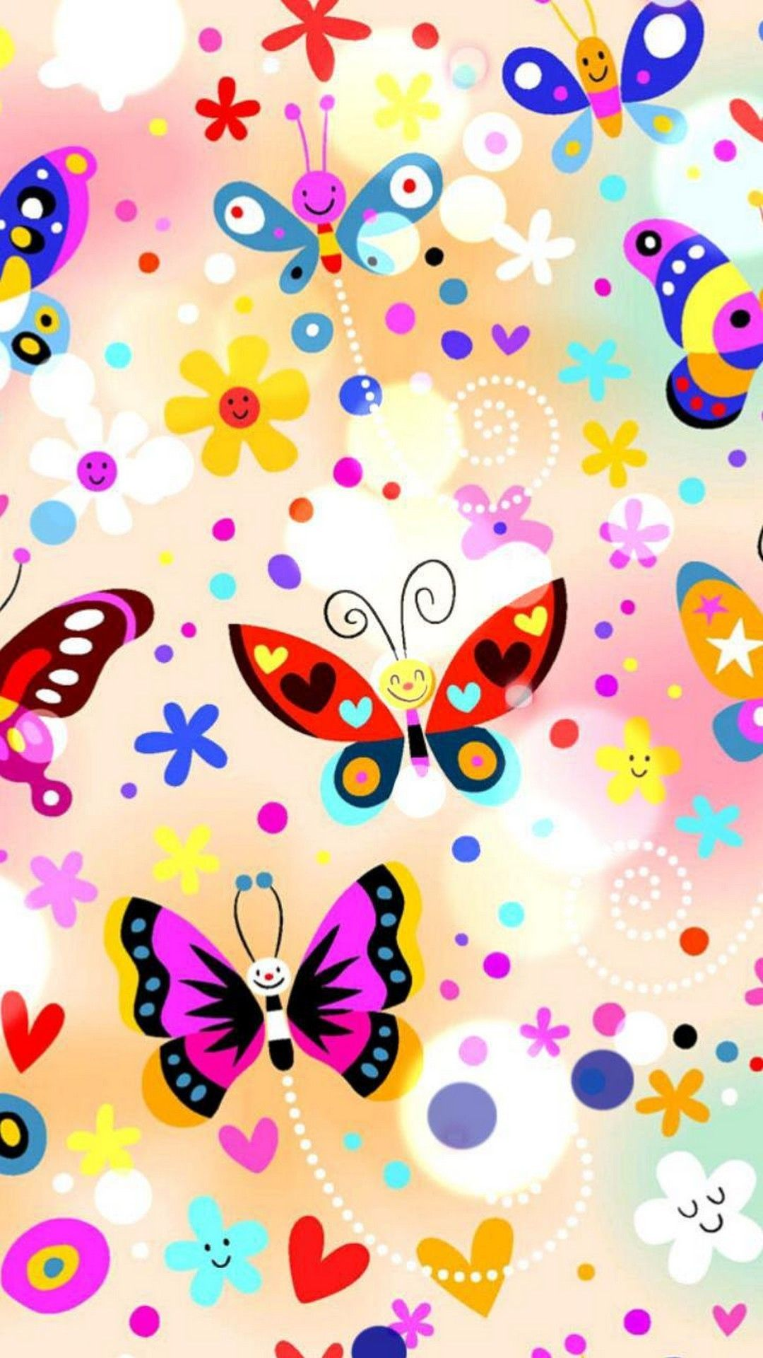 Pink Butterfly iPhone Wallpapers - Wallpaper Cave