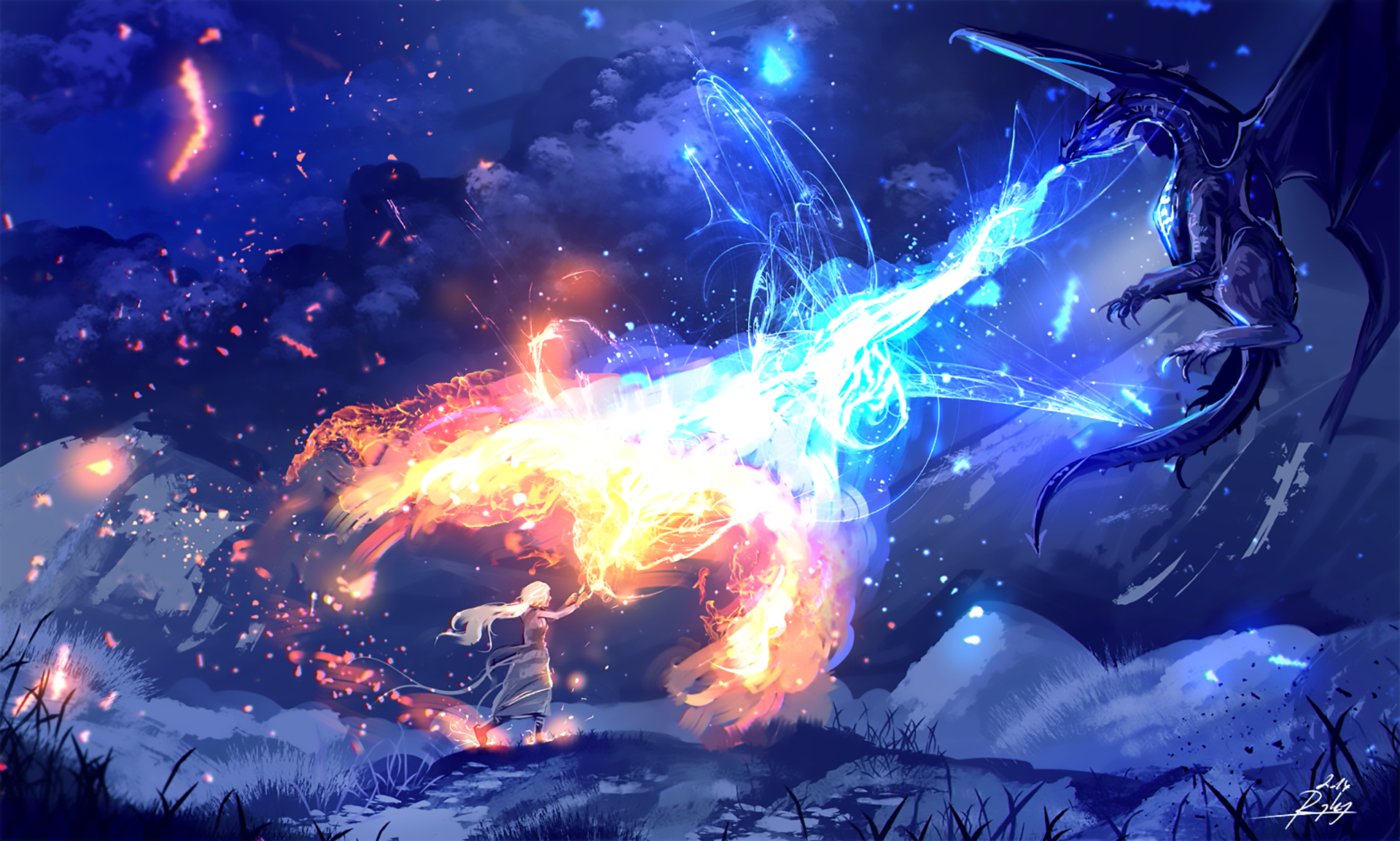 Fire And Ice Hd Wallpaper