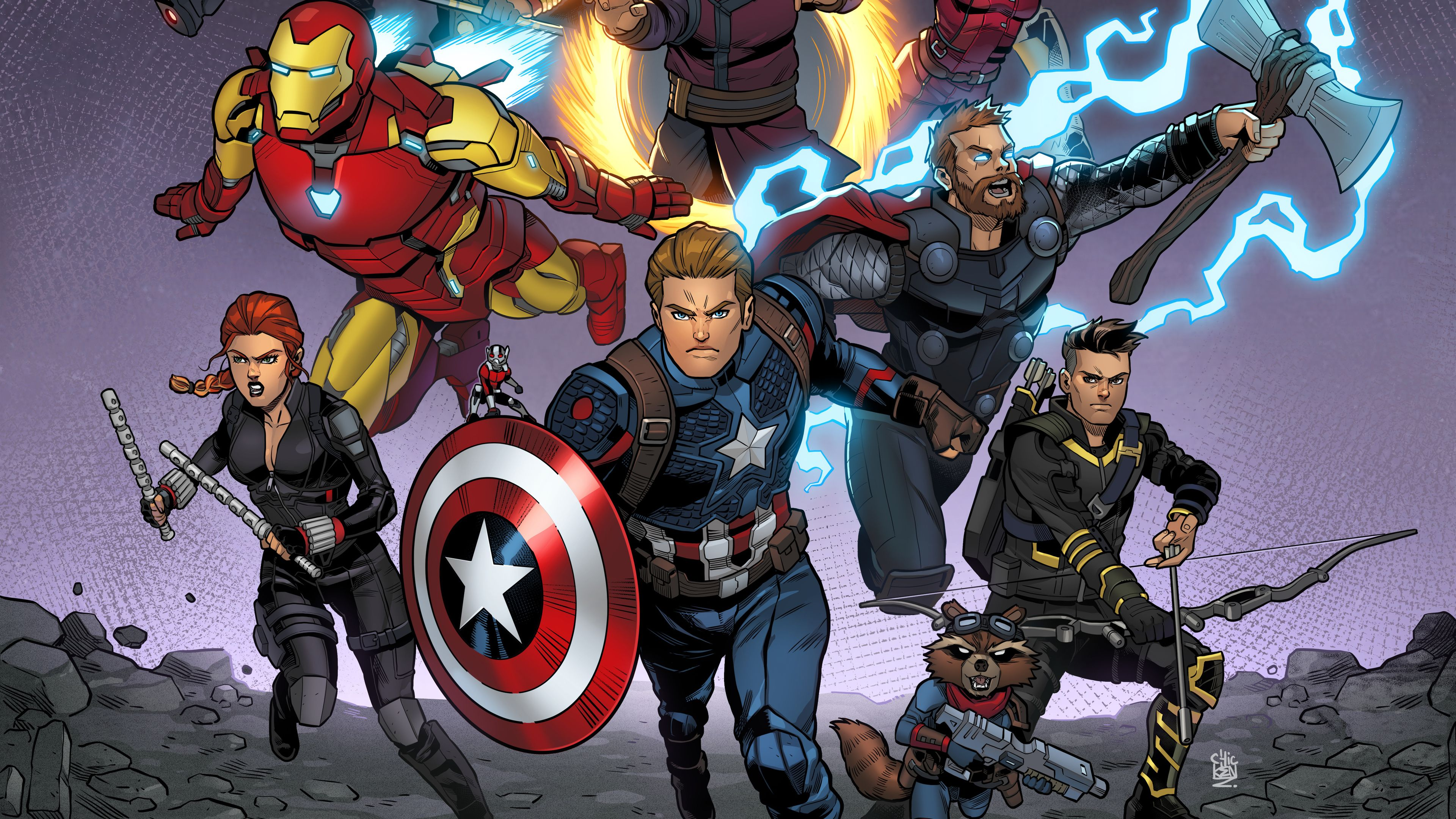 Avengers Animation Wallpapers Wallpaper Cave