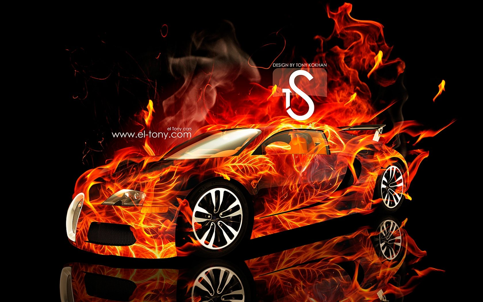 Fire Bugatti Wallpapers Wallpaper Cave