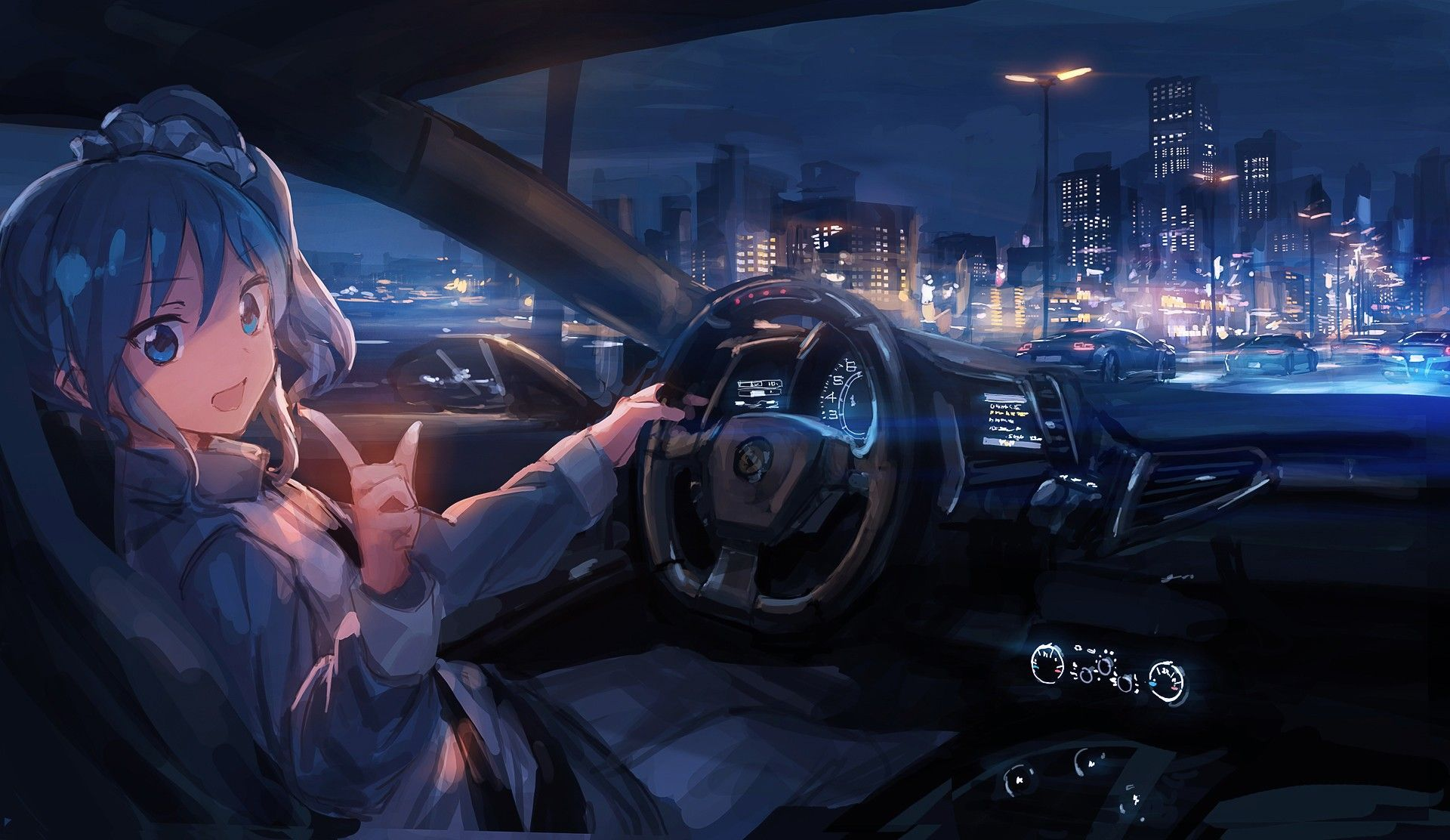 Aesthetic Anime Car Wallpapers - Wallpaper Cave