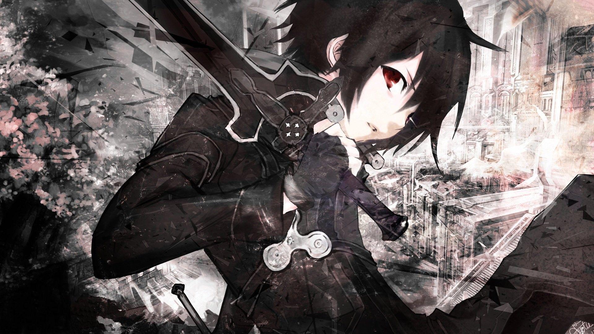Anime Sao Kirito Dark Wallpapers Wallpaper Cave