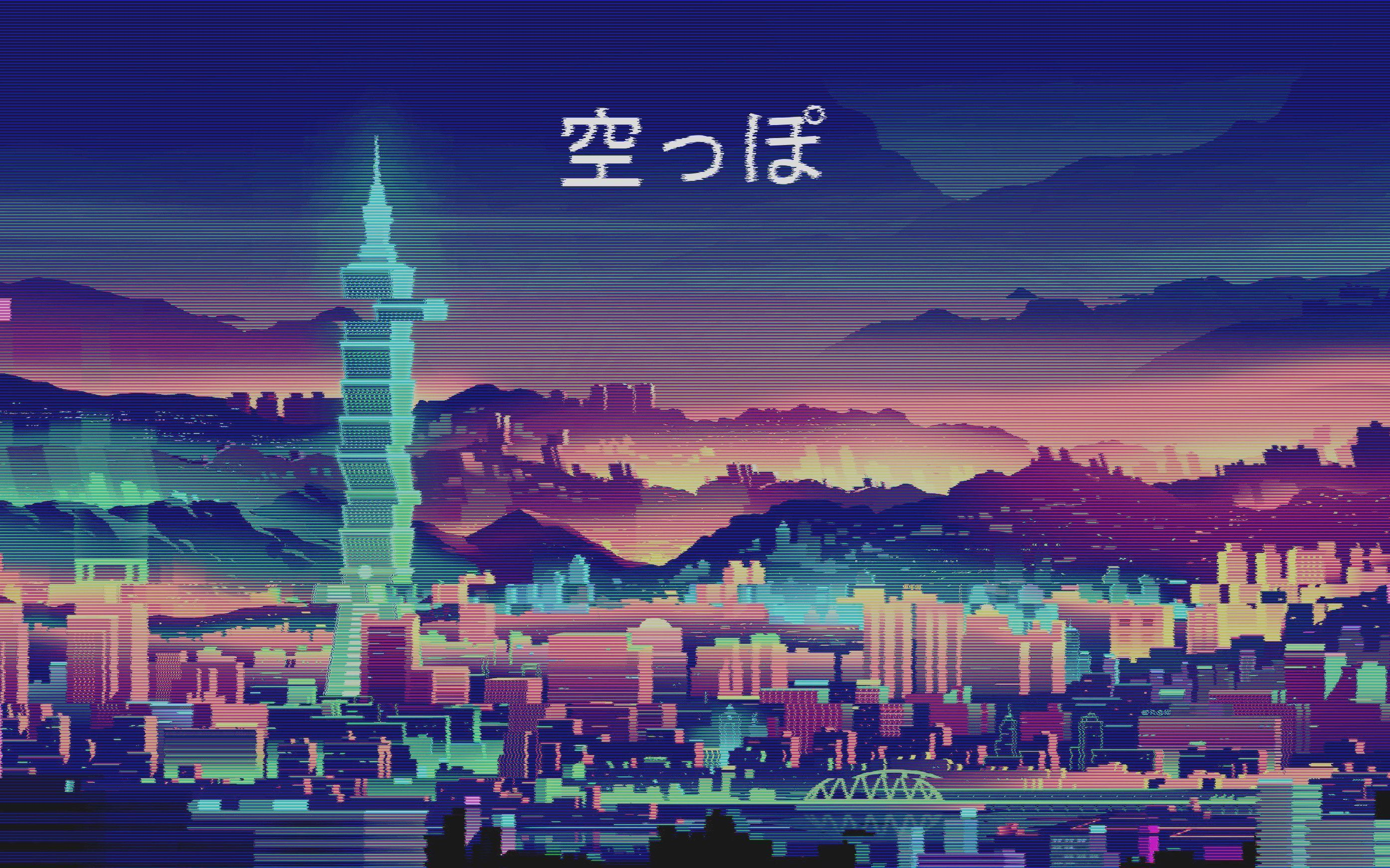 anime aesthetic city pc wallpapers