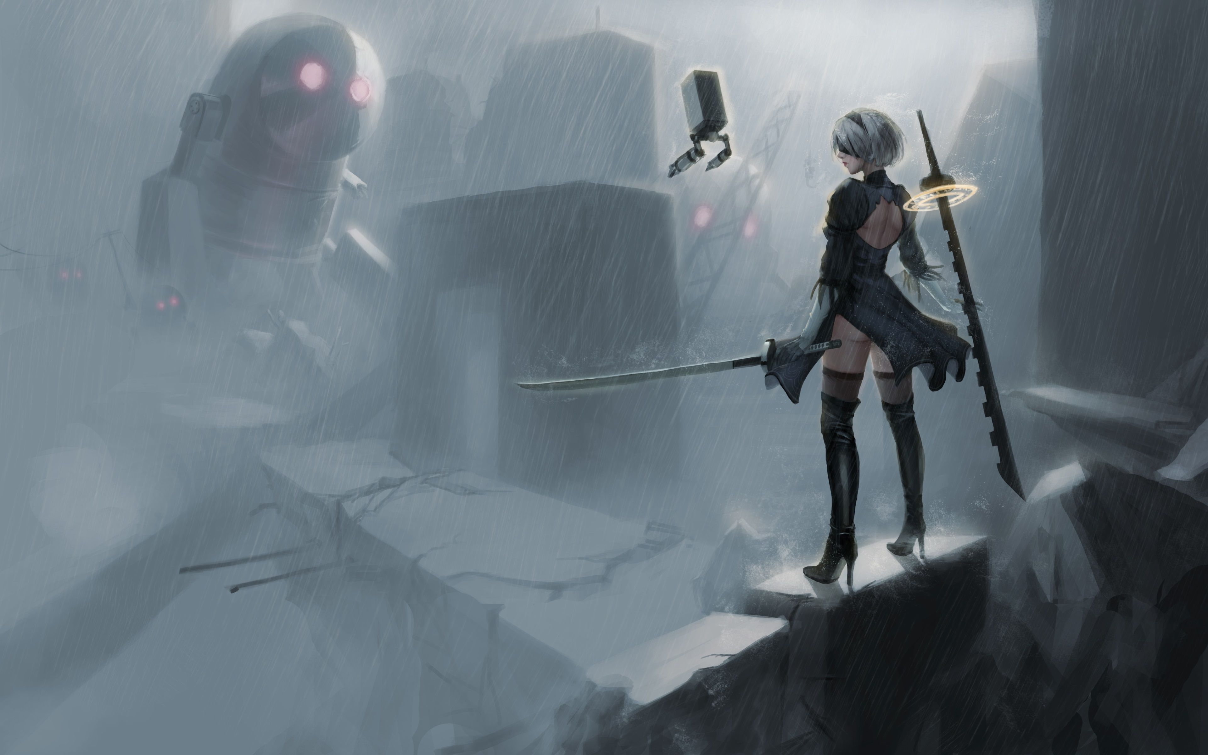 3840x2400 nier automata 4k wallpapers for screen