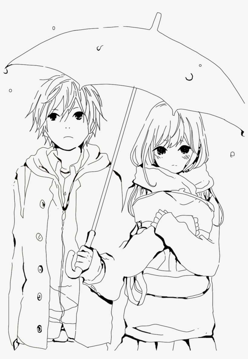Drawing Anime Boy And Girl Wallpapers - Wallpaper Cave