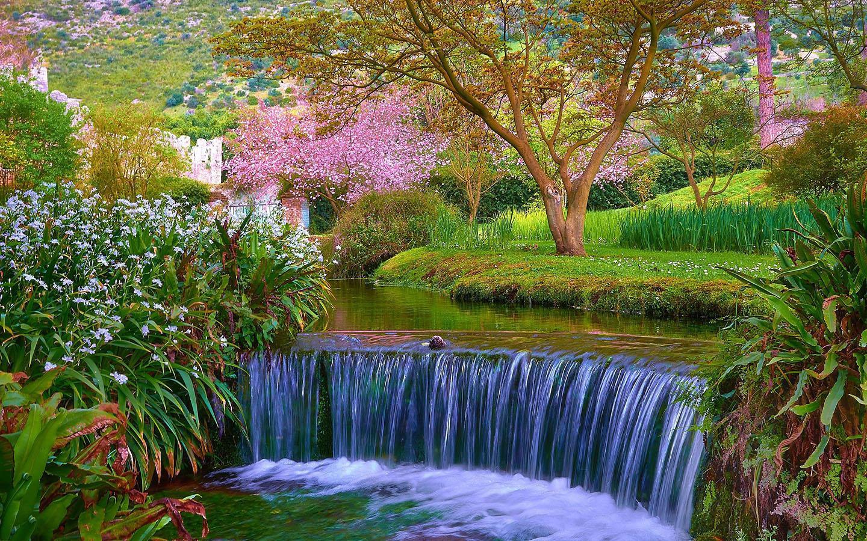 Spring Waterfalls 1920x1080 Wallpapers - Wallpaper Cave