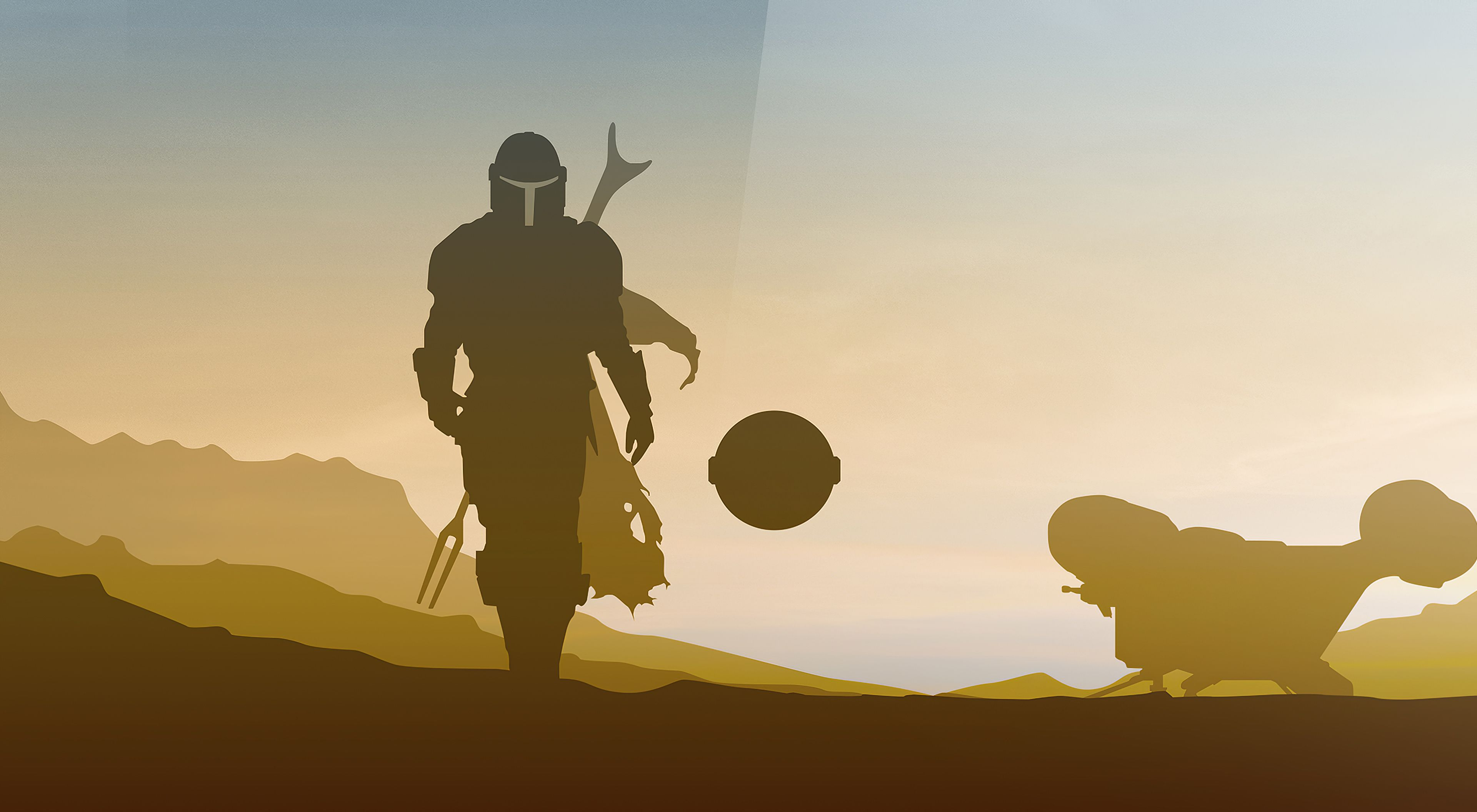 Star Wars Mandalorian Minimalist Desktop Wallpapers Wallpaper Cave