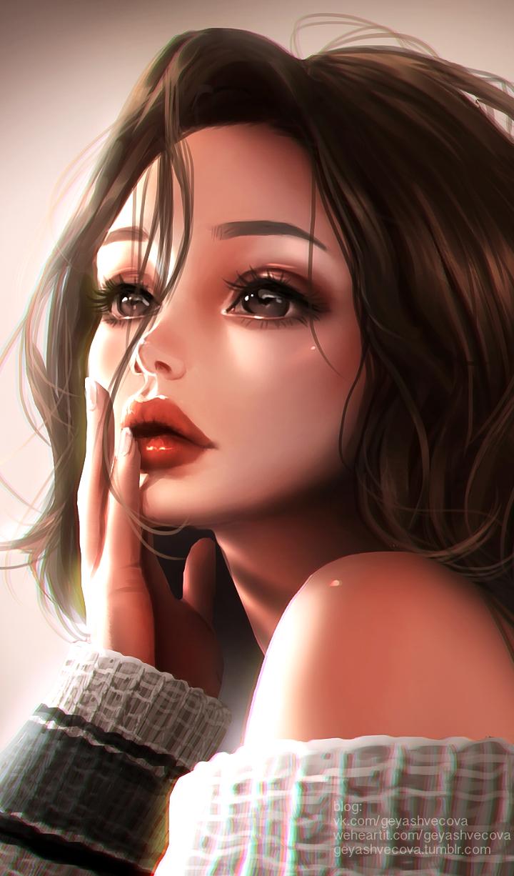 Makeup Anime Art Girl Hd Wallpapers Wallpaper Cave