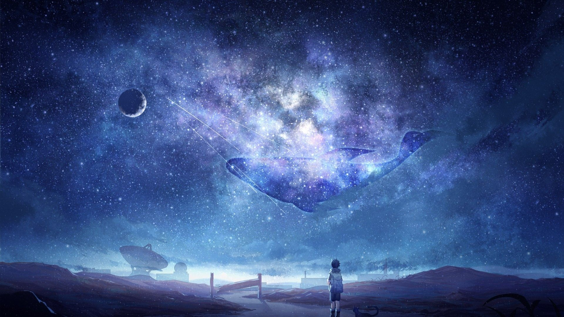 High Hd Anime Sky Wallpapers Wallpaper Cave