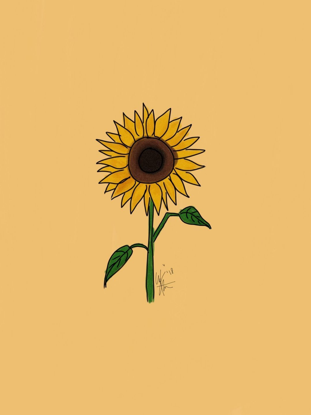 Yellow Aesthetic Sunflowers Hd Wallpapers