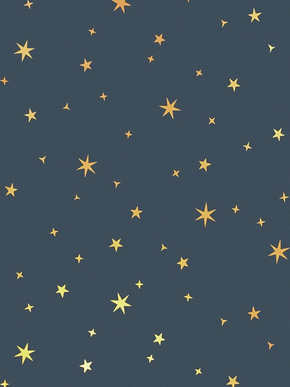 Midnight Blue Starry Sky Ceiling Wallpapers