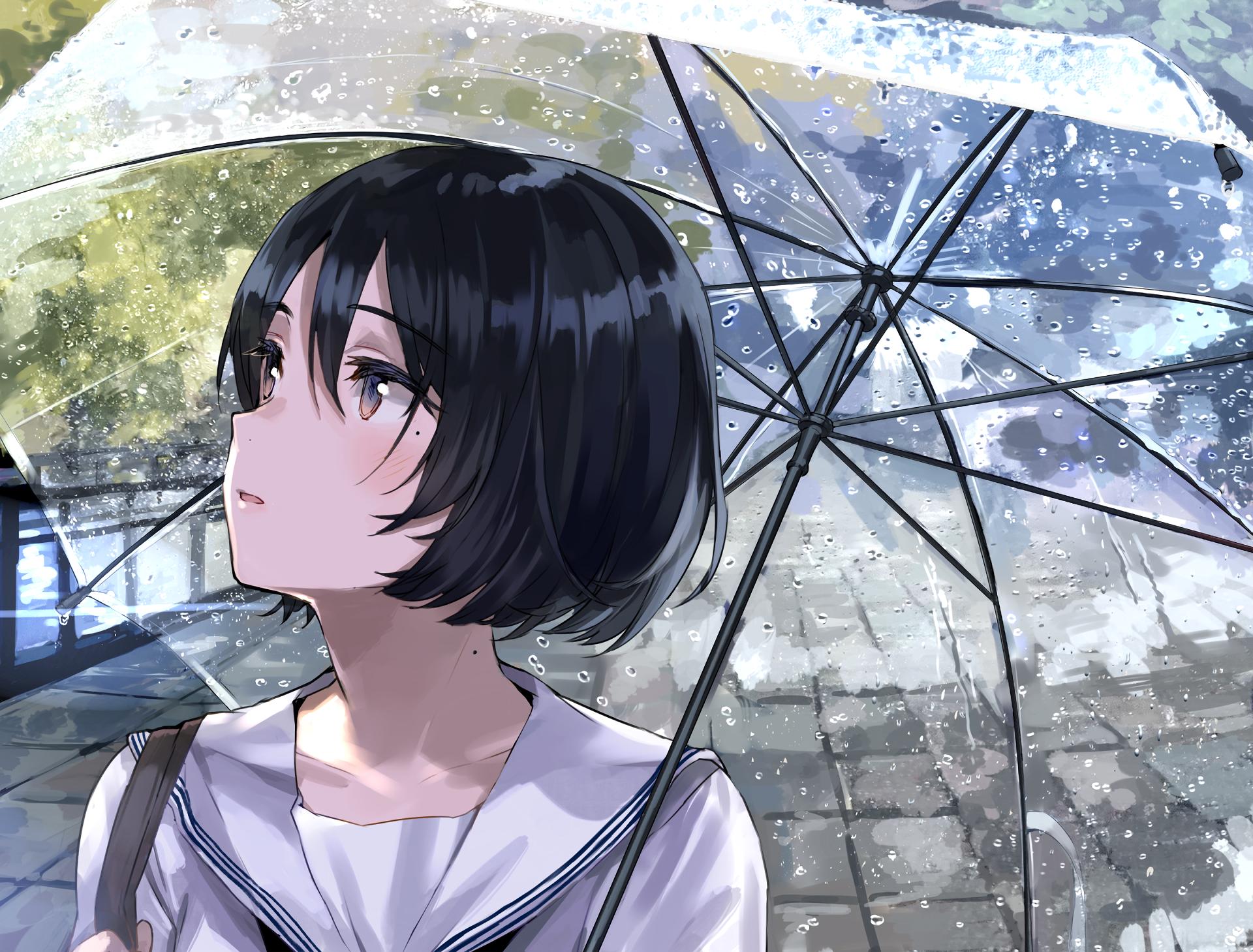 Anime Girl Short Hair Wallpapers Wallpaper Cave
