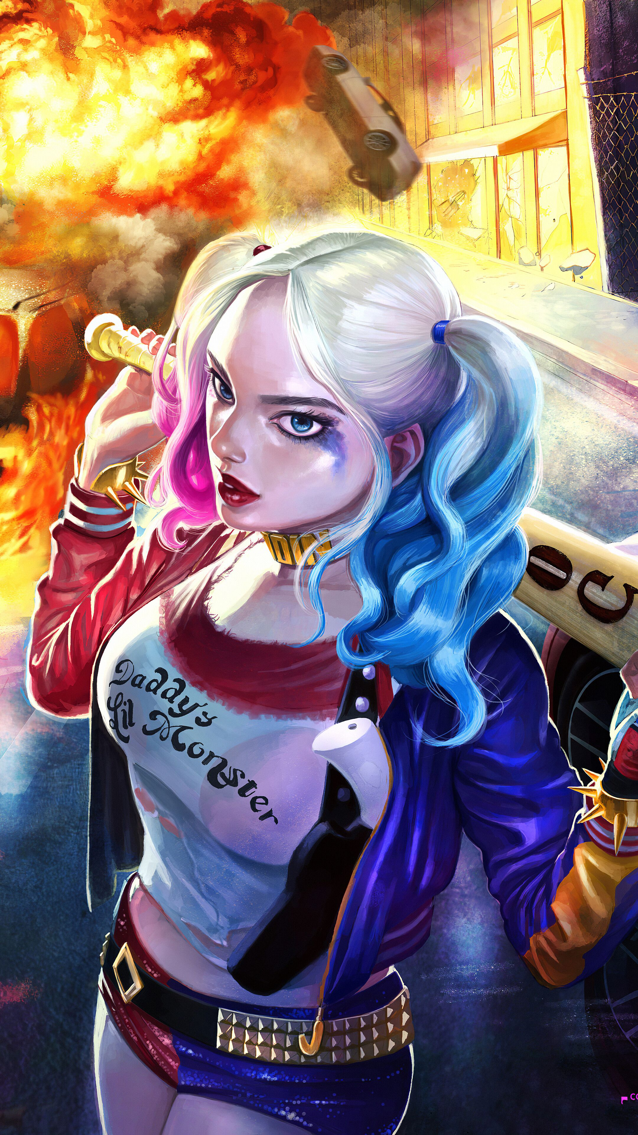 Harley Quinn Hd 4k Iphone Wallpapers Wallpaper Cave