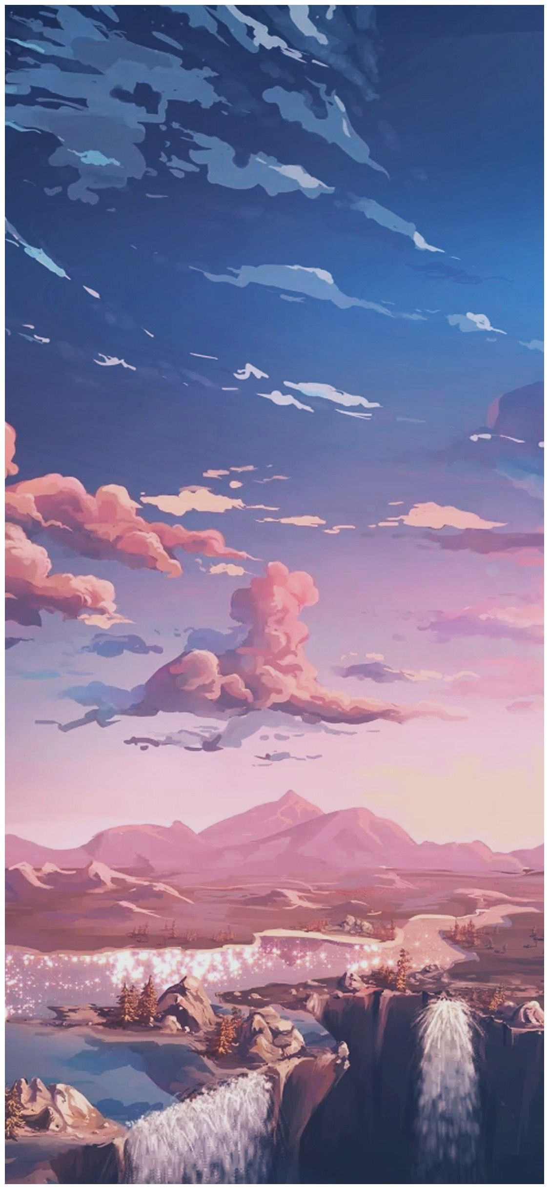 Aesthetic Anime Landscape Wallpapers Wallpaper Cave