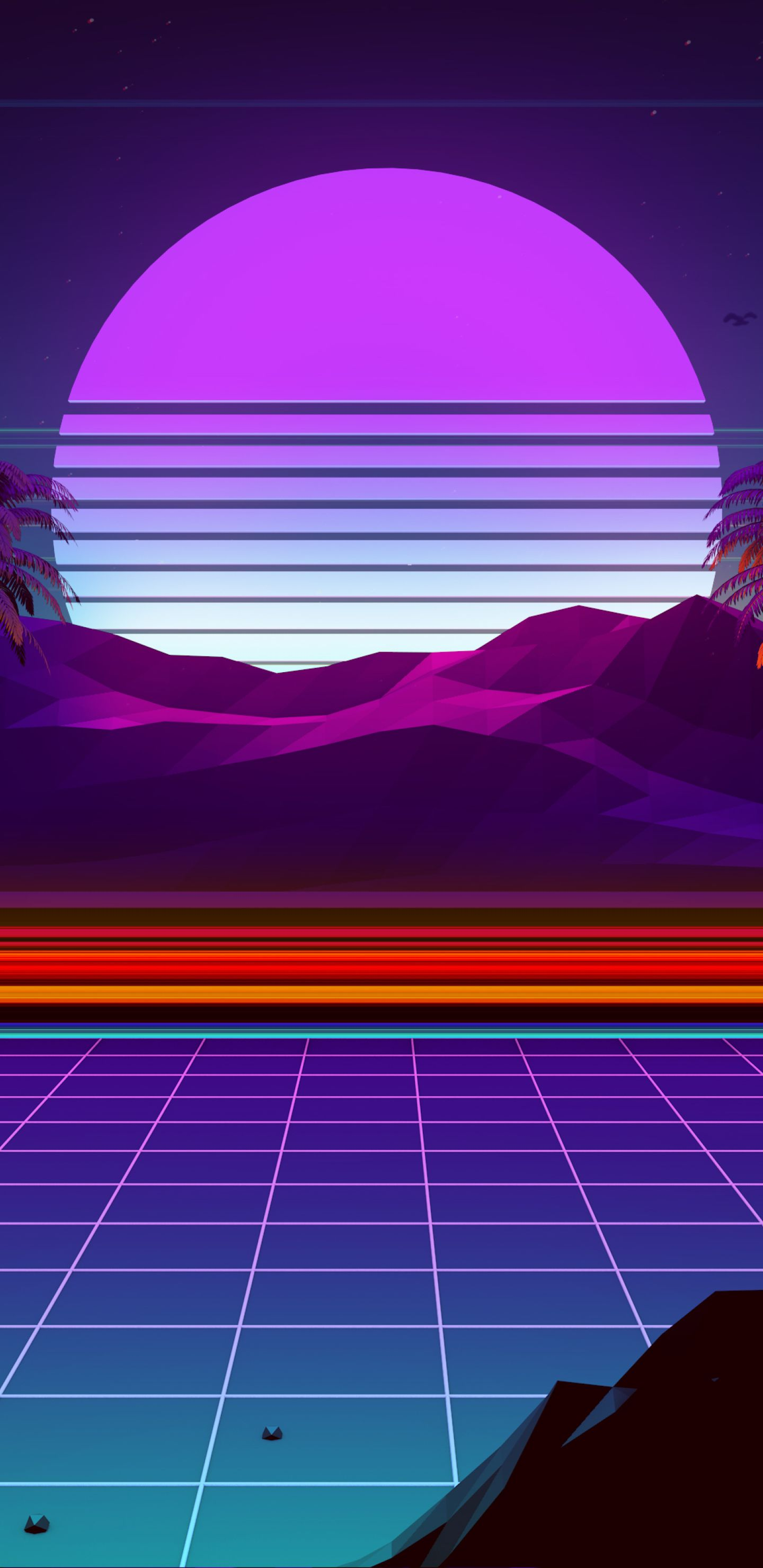 1440x2960 Synthwave And Retrowave Samsung Galaxy Note 9,8, S9,S8
