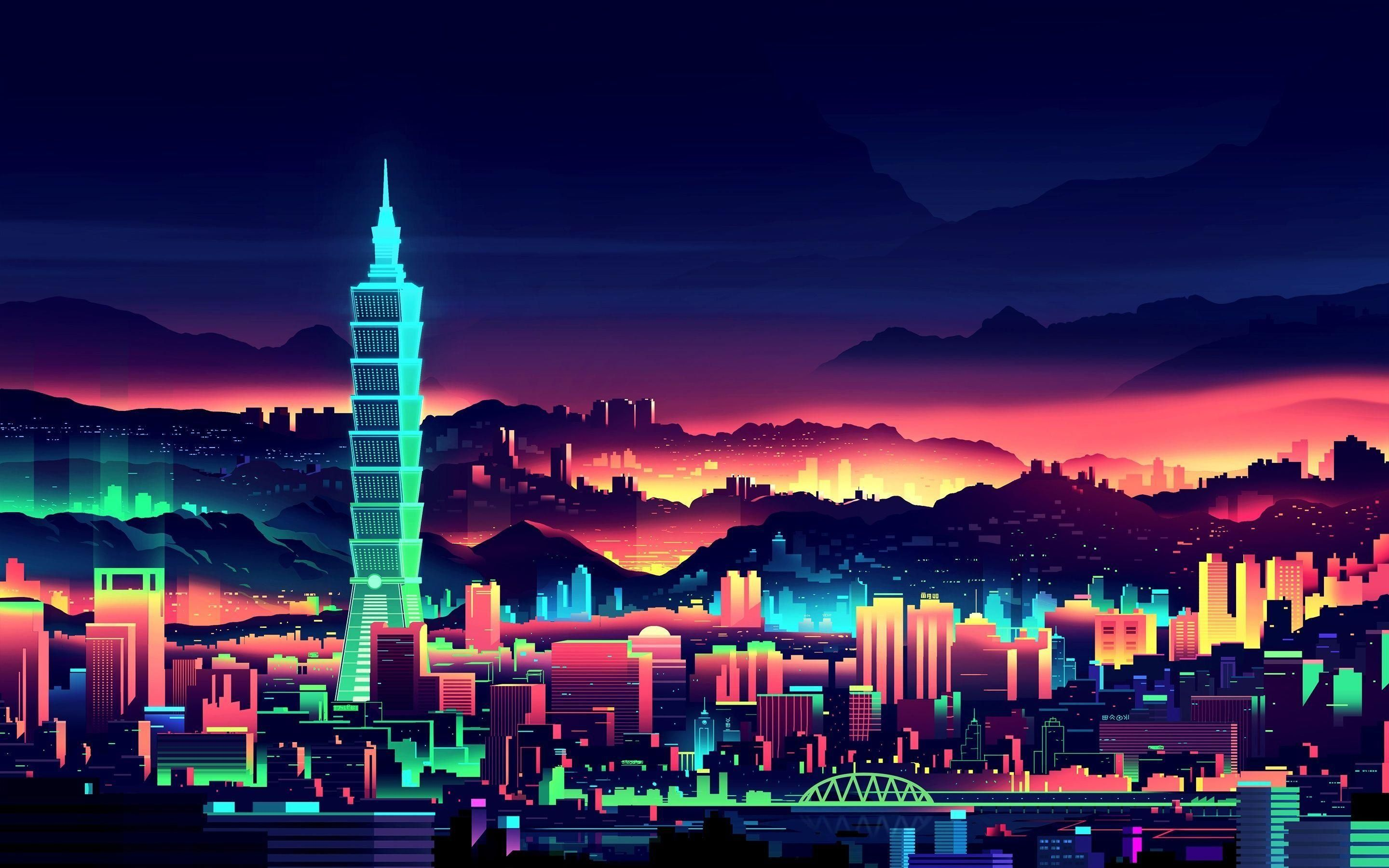 Retro Anime City Wallpapers - Wallpaper Cave