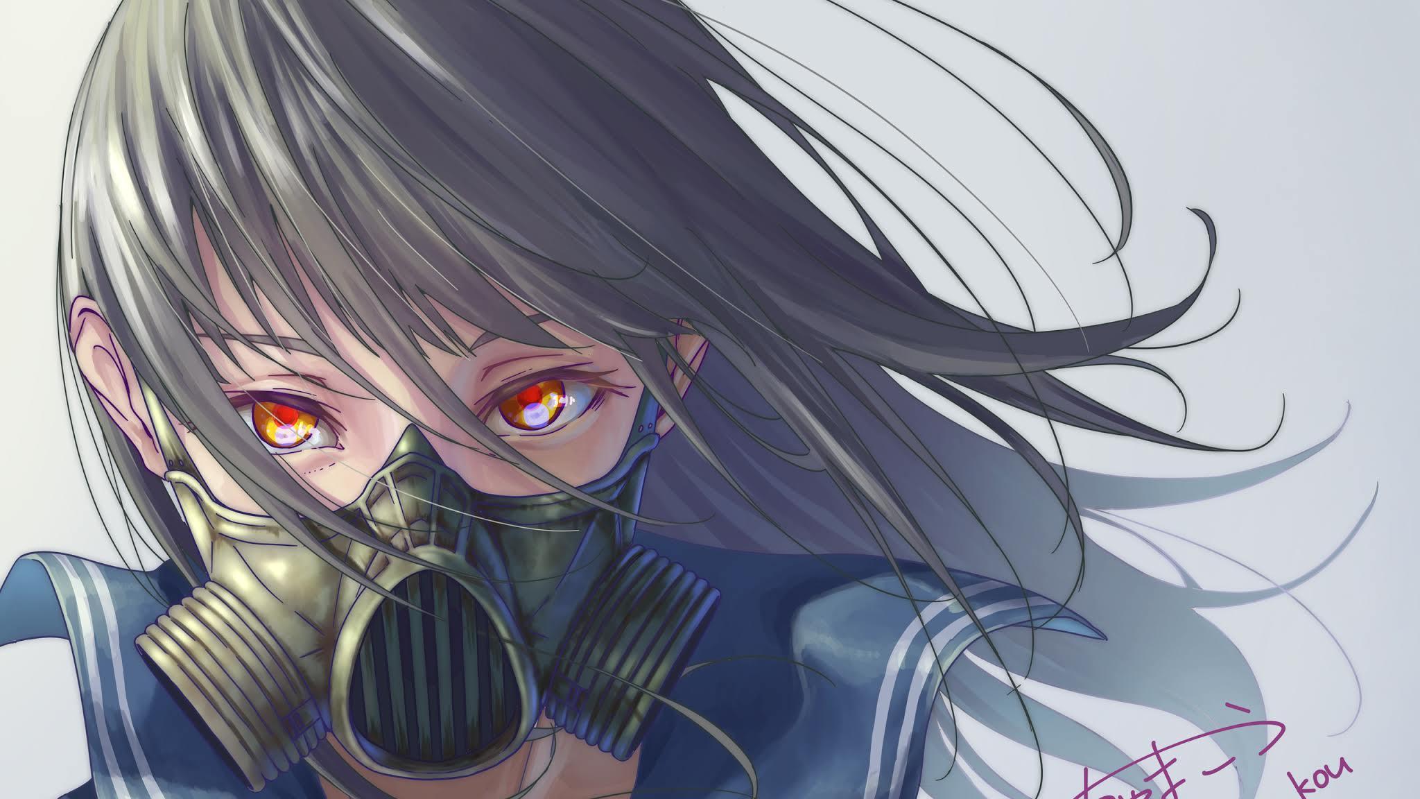 Mask Anime Girl Wallpapers - Wallpaper Cave